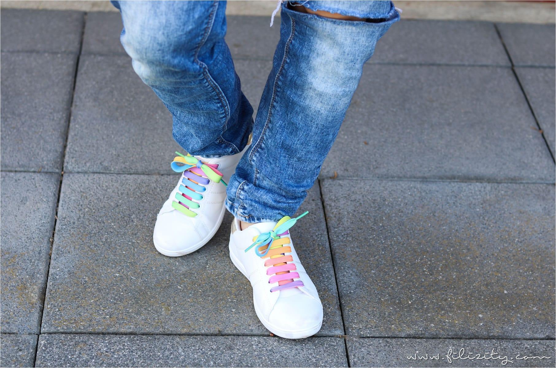 02e7ffe729c520 Easy-Peasy-DIY für EInhornfans  So einfach kannst du dir tragbare  Regenbogen- und Einhorn-Accessoires wie diese Einhorn-Schuhe selber machen.