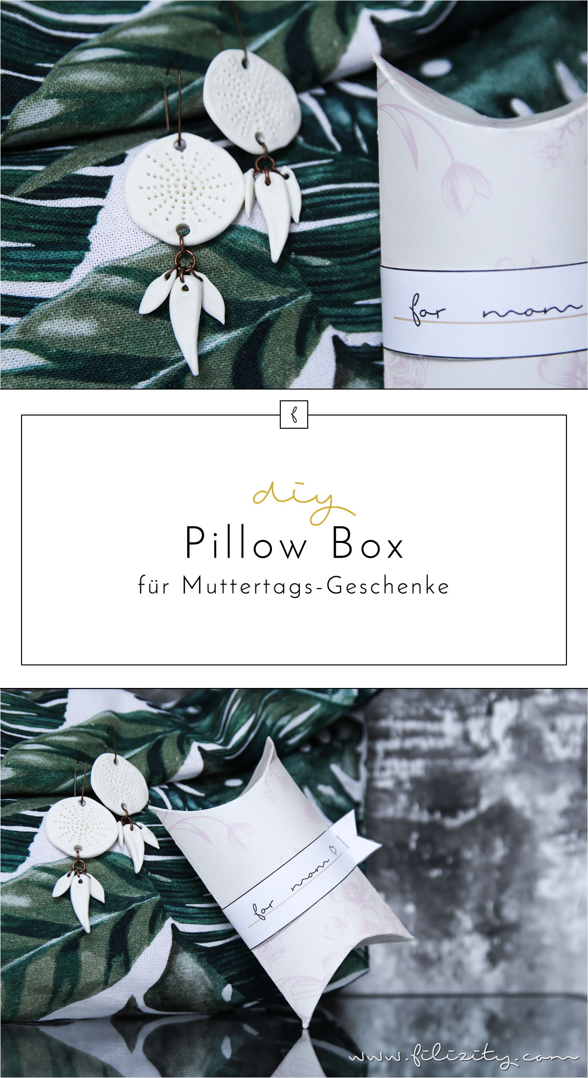 DIY Pillow Box für Muttertags-Geschenke [Free Printable]