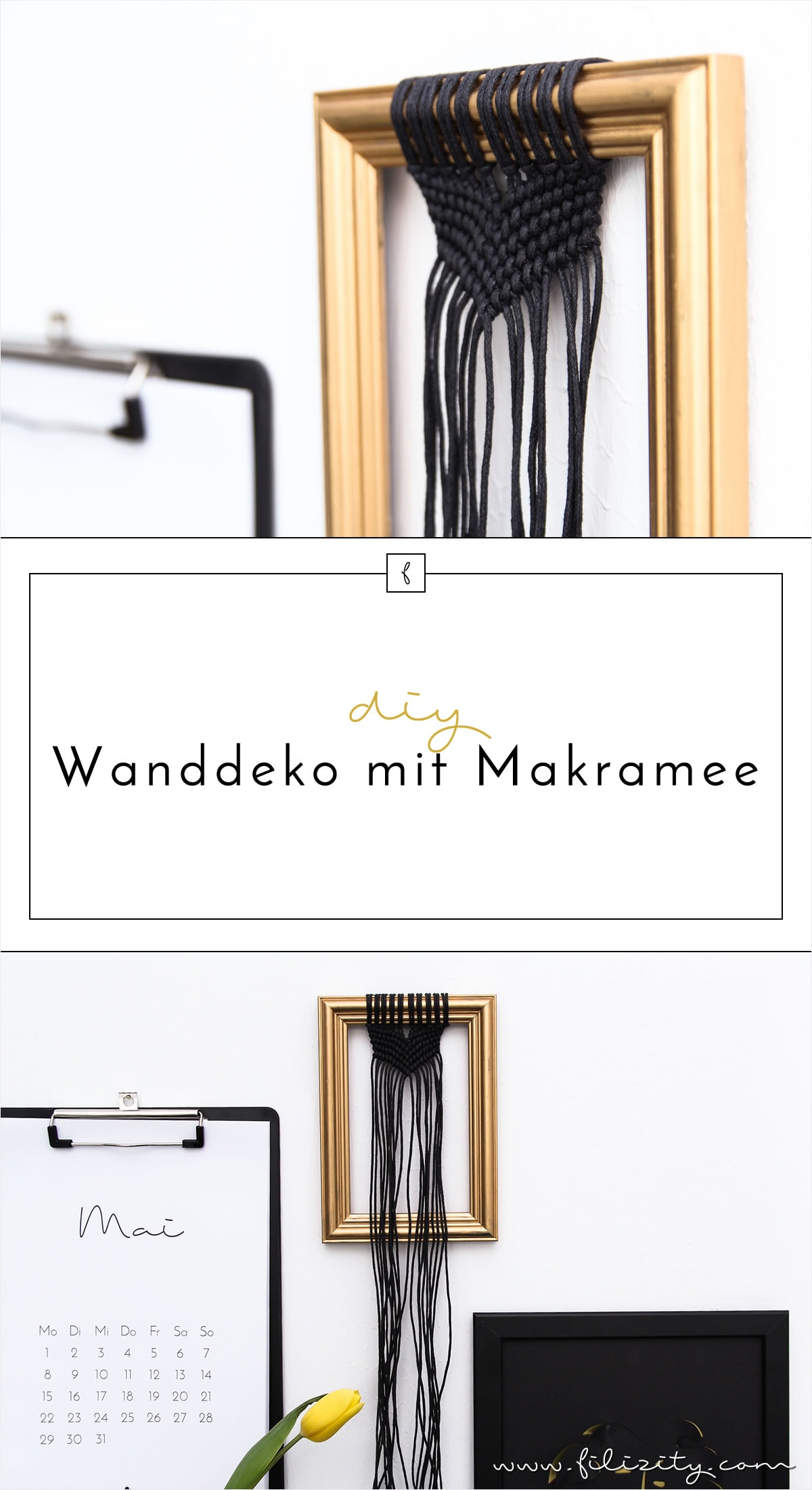 DIY: Moderne Wanddeko mit Makramee