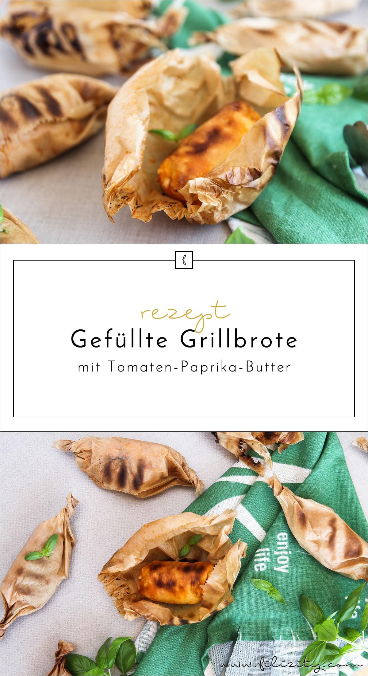 Sommer-Rezept: Gefüllte Grillbrote mit Tomaten-Paprika-Butter