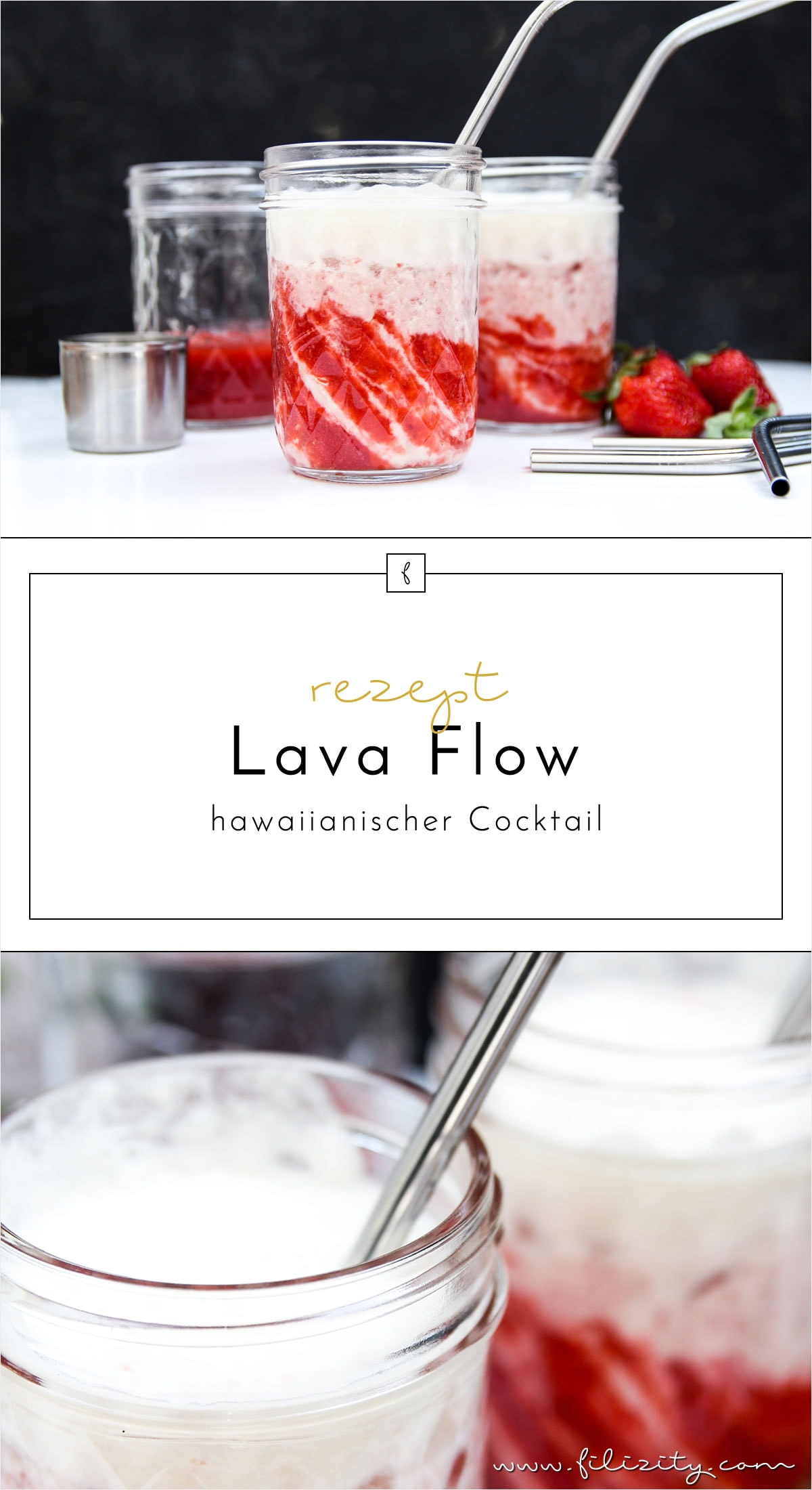 Lava Flow – hawaiianisches Cocktail-Rezept