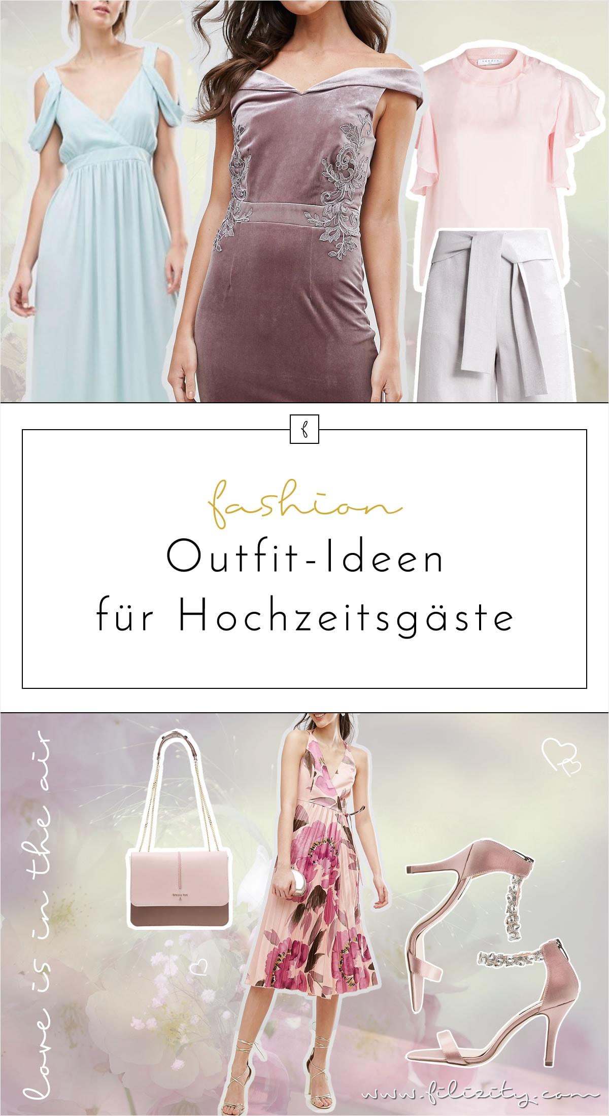 Perfekt gestylt – 4 Outfit-Ideen für Hochzeitsgäste Frühjahr/Sommer 2017