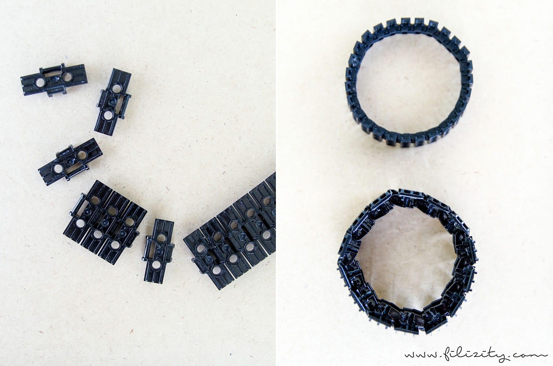 DIY Schmuck: Eleganter Armreif aus Lego-Panzerkette - Anleitung