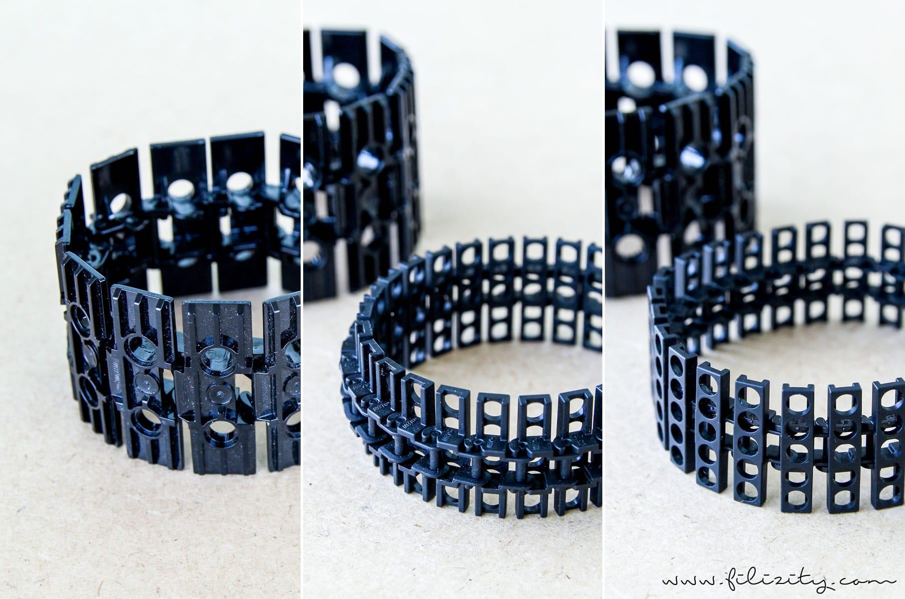 DIY Schmuck: Eleganter Armreif aus Lego-Panzerkette - Ergebnis