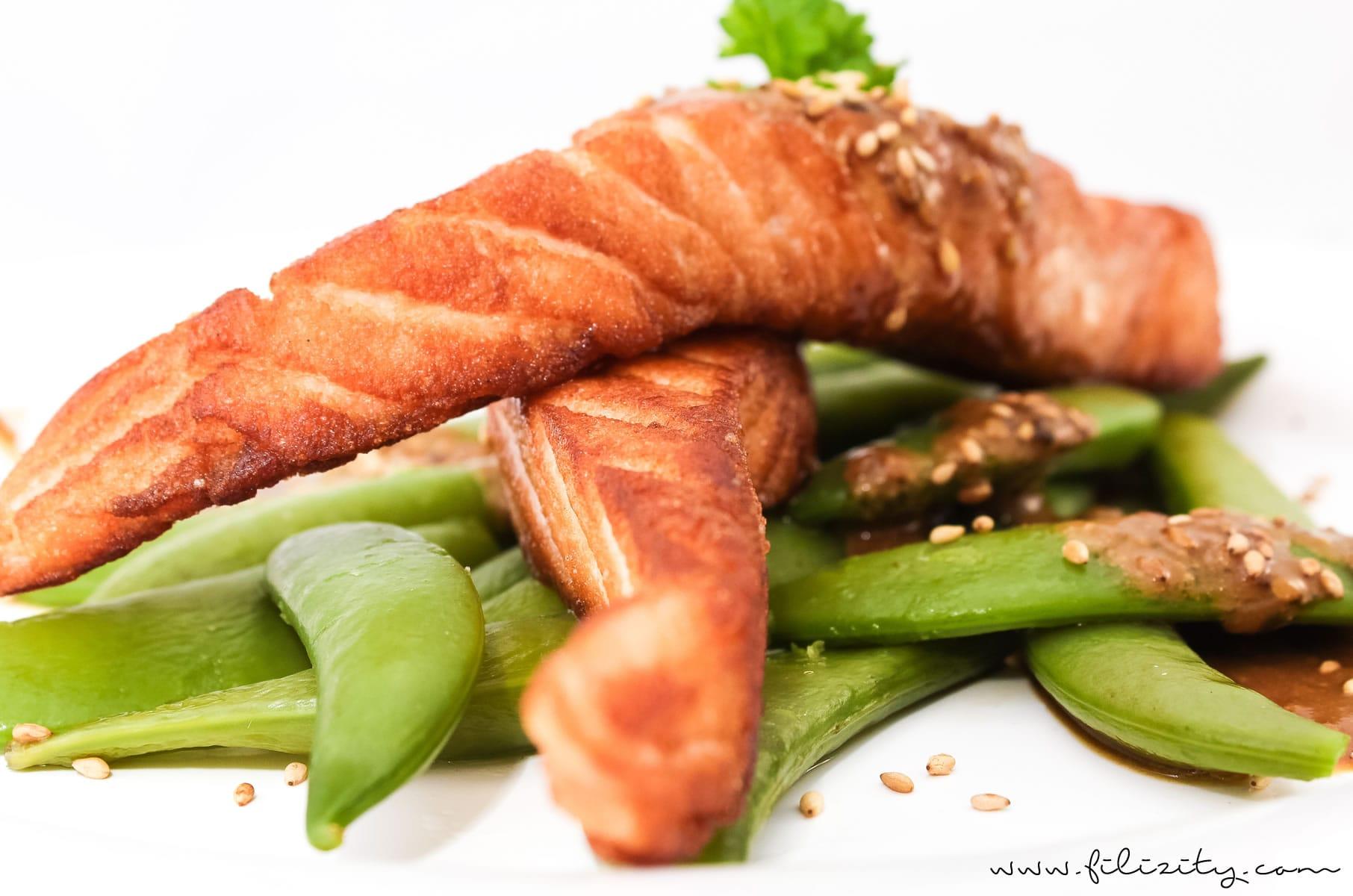 Lachs mit Sesam-Soße