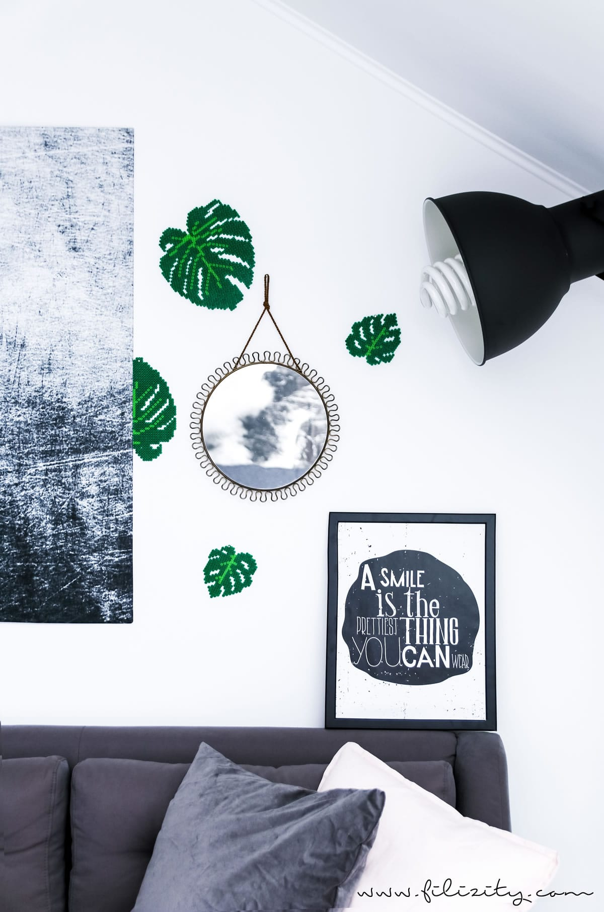 DIY Urban Jungle: Bügelperlen-Monstera - Just Bead It! #bügelperlen #monstera