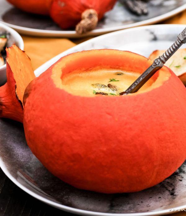 Kürbis-Suppe aus dem Ofen