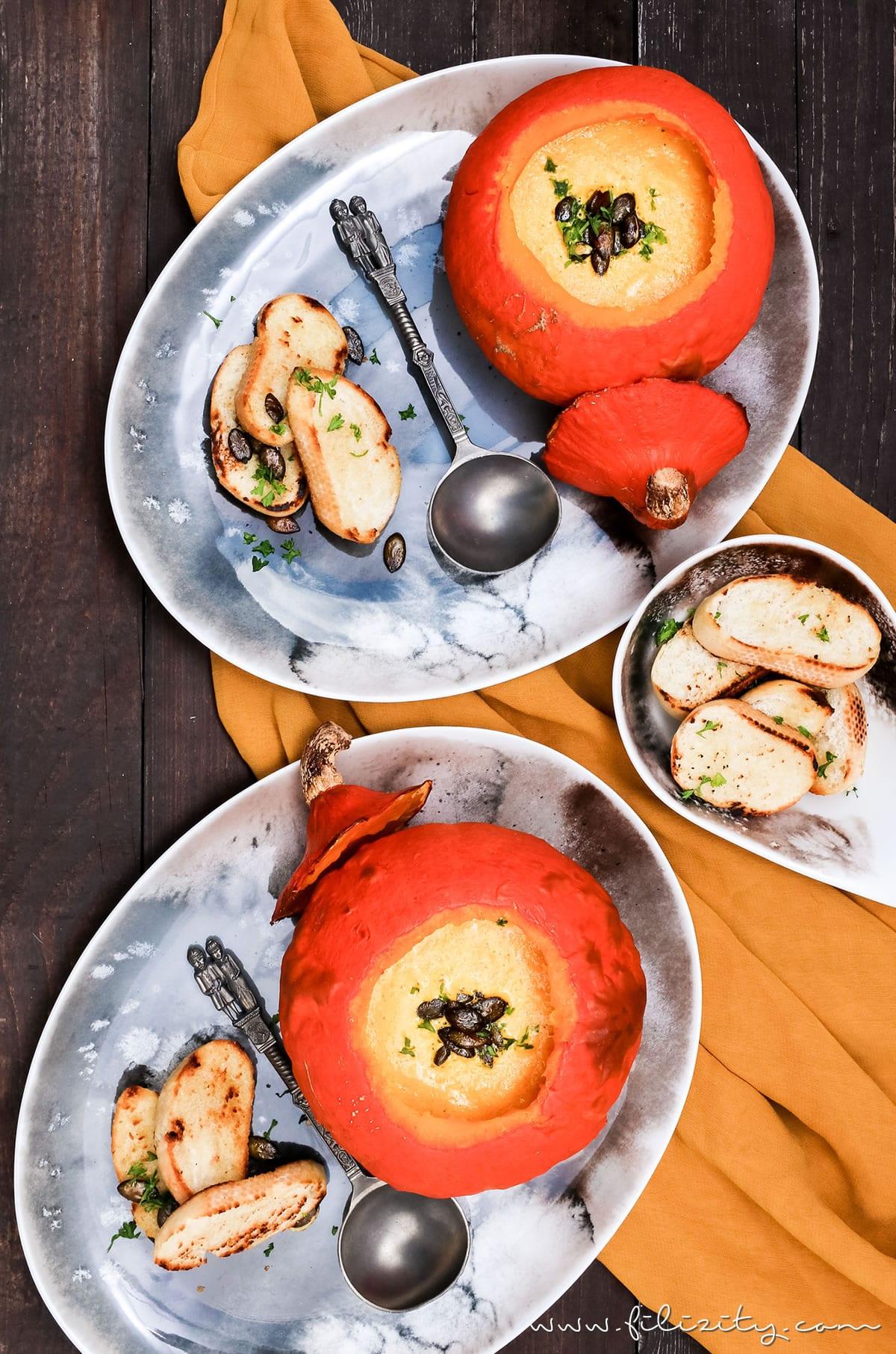 Herbst-Rezept: Kürbis-Suppe aus dem Ofen mit feinem Brie | Filizity.com | Food-Blog aus Koblenz #kürbis #herbst #suppe