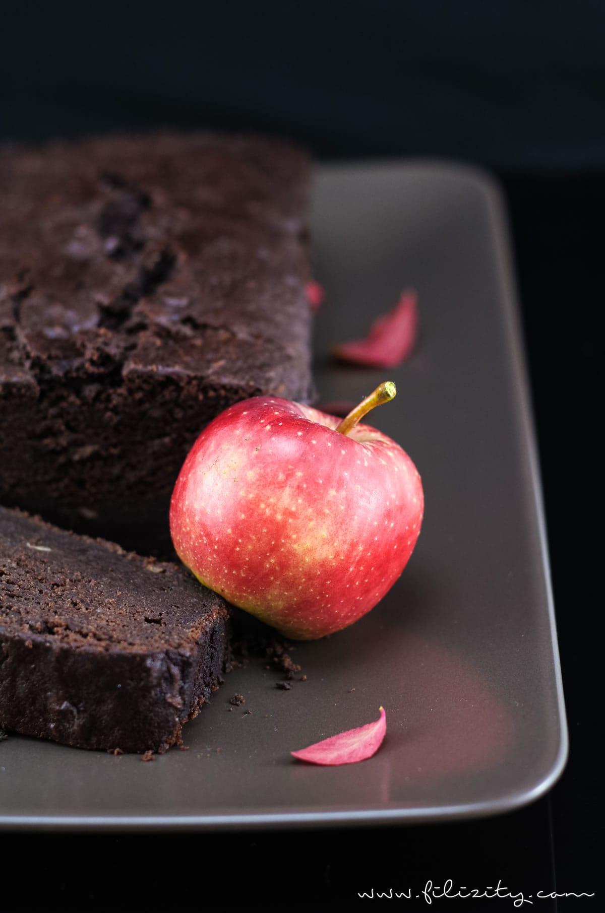 Herbst-Rezept: Saftiger Apfel-Brownie-Kuchen | extra saftig und schokoladig #herbst #apfel #brownie