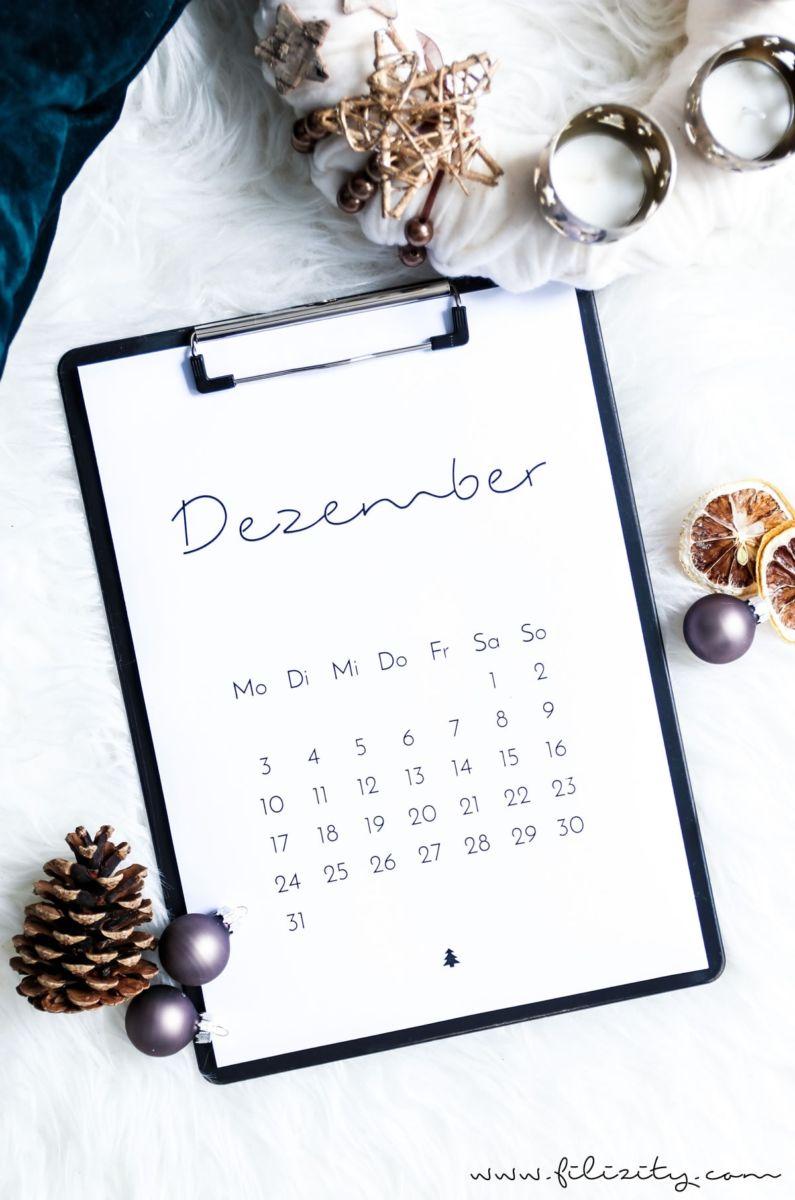 Für mehr Plan: Minimalistischer Kalender für 2018. Mit der ...