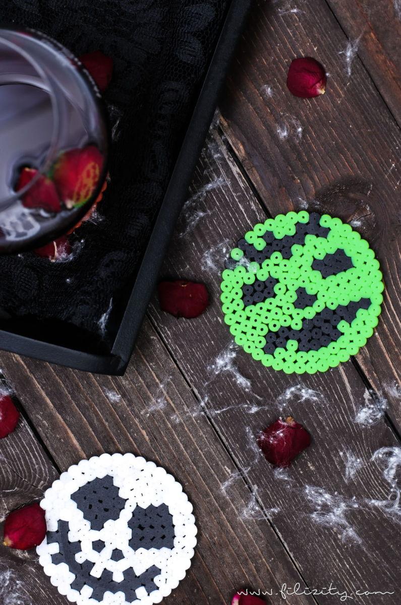 halloween deko selber machen: mit diesen schaurigen glasuntersetzern