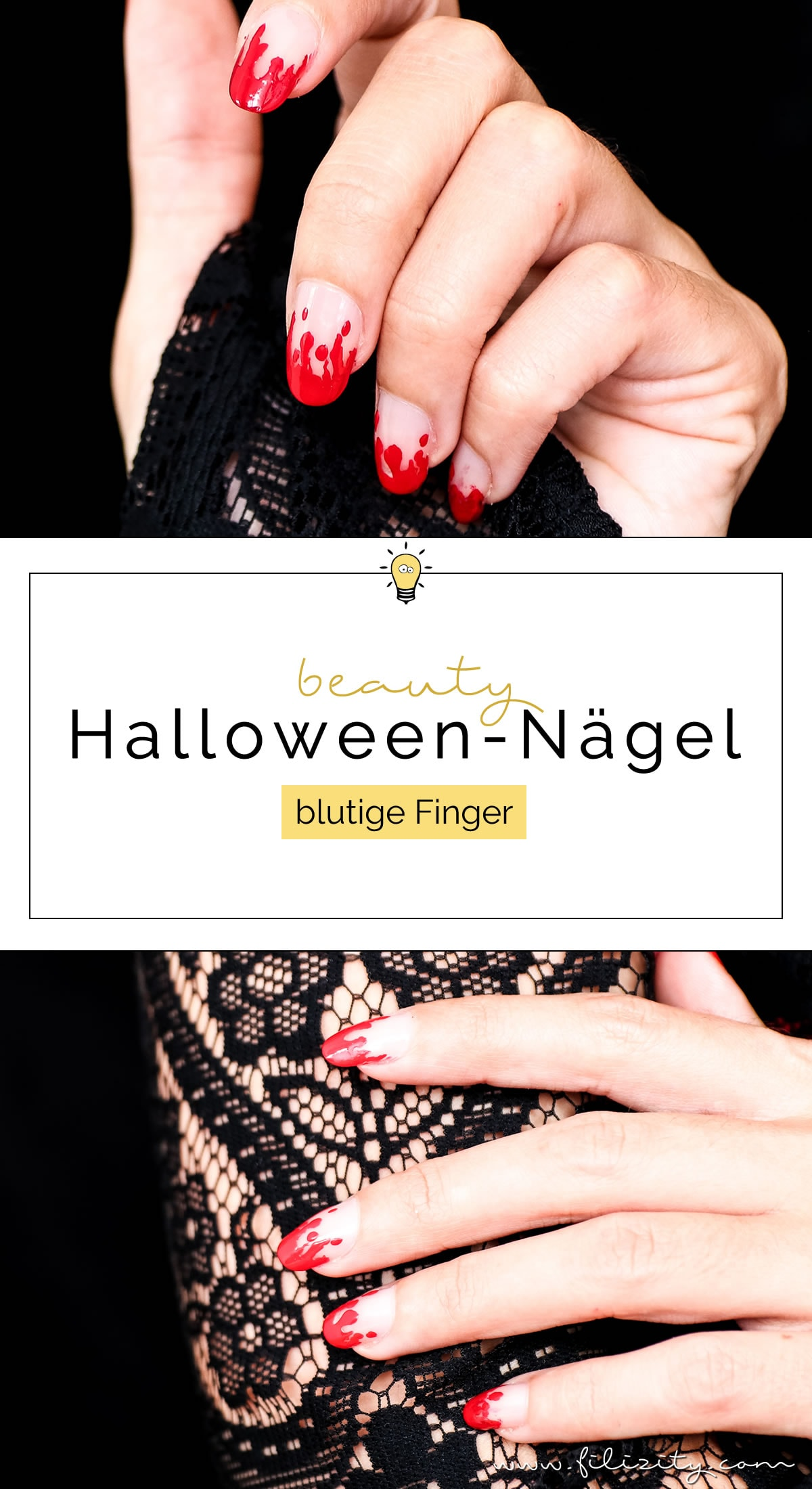 Halloween Nageldesign \
