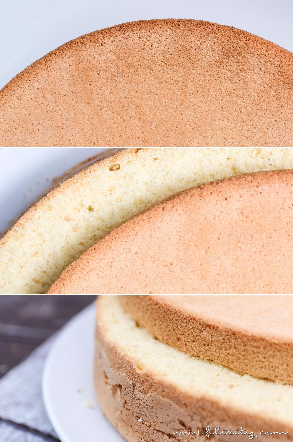 Gelingsicheres Biskuitteig Rezept für Torten & Desserts   Filizity.com   Food-Blog aus dem Rheinland #biskuit #torte #kuchen #dessert