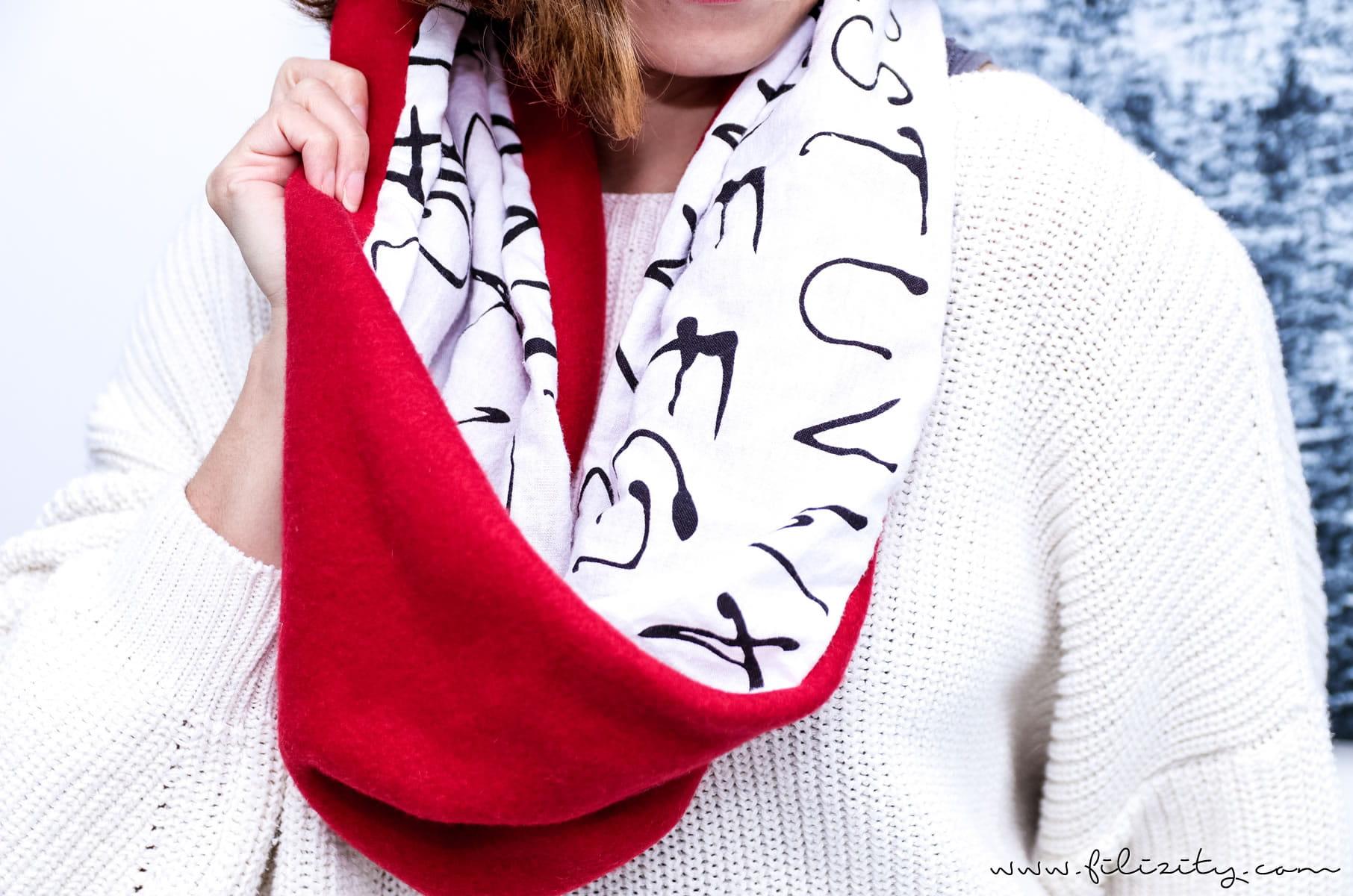 DIY Fashion: Schlauchschal nähen in 10 Minuten | Filizity.com | DIY ...