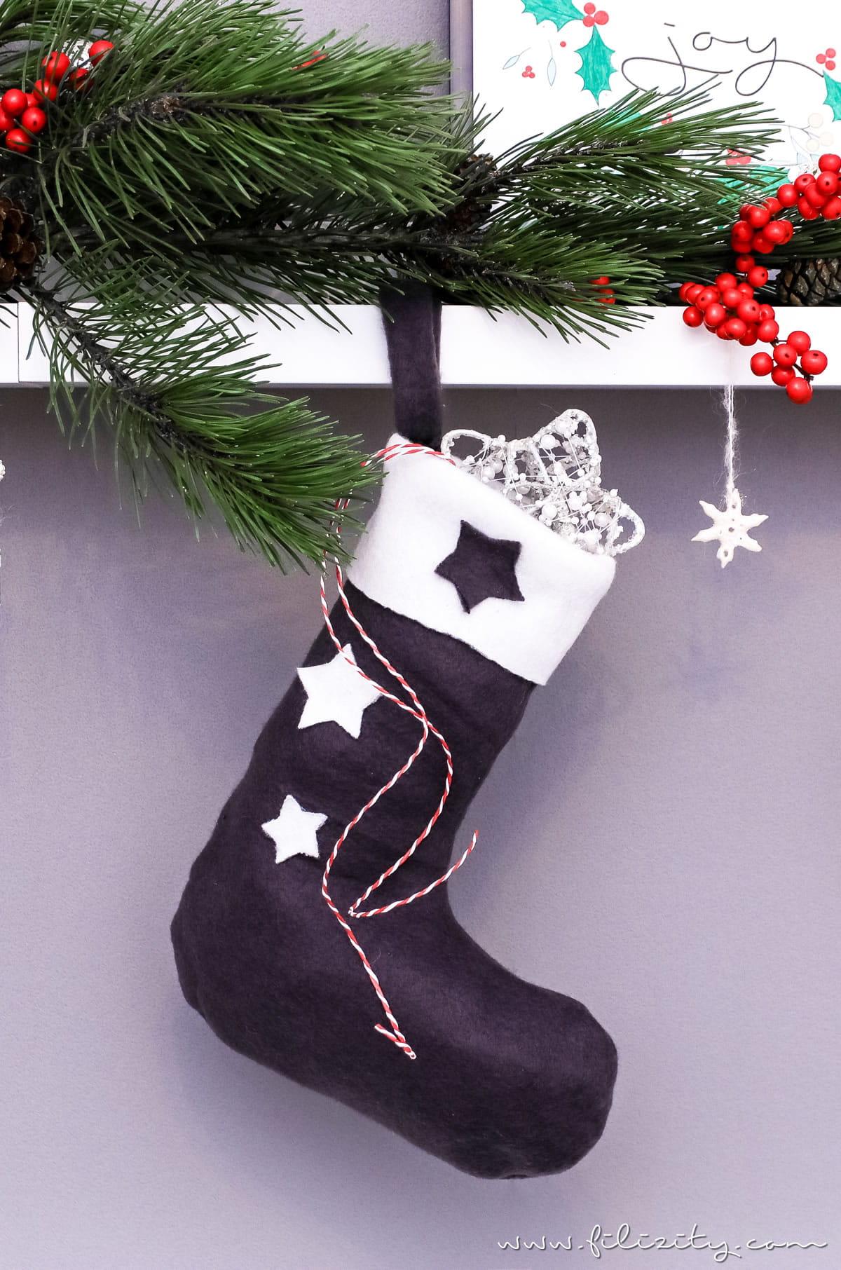 Basteln in der Weihnachtszeit: Nikolausstiefel nähen | Filizity.com | DIY-Blog aus dem Rheinland #weihnachten #nikolaus #nähen #geschenkideen