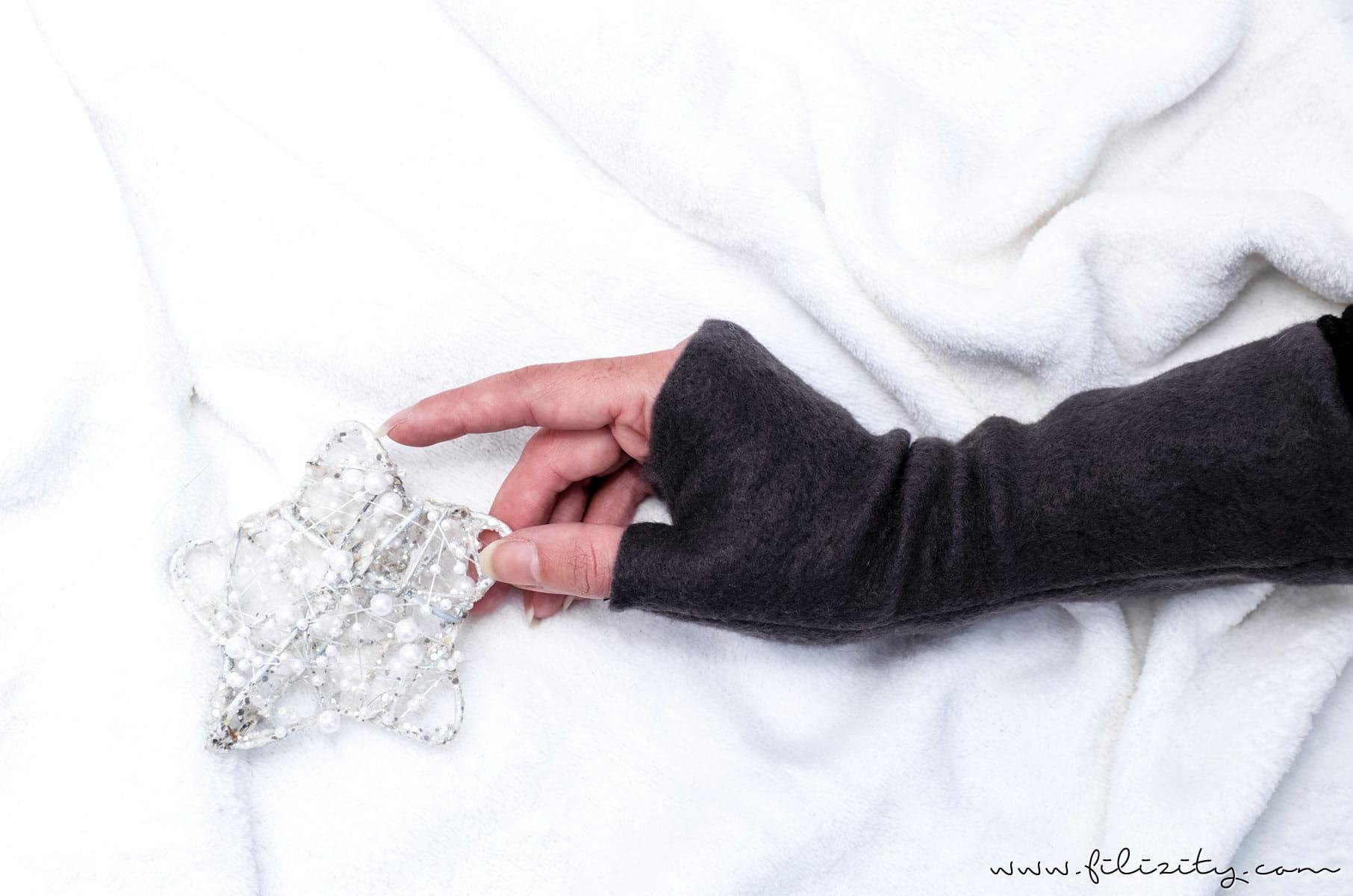 Armstulpen nähen - Winteraccessoire und Geschenkidee zu Weihnachten | Filizity.com | DIY-Blog aus dem Rheinland #weihnachten #weihnachtsgeschenke #nähen
