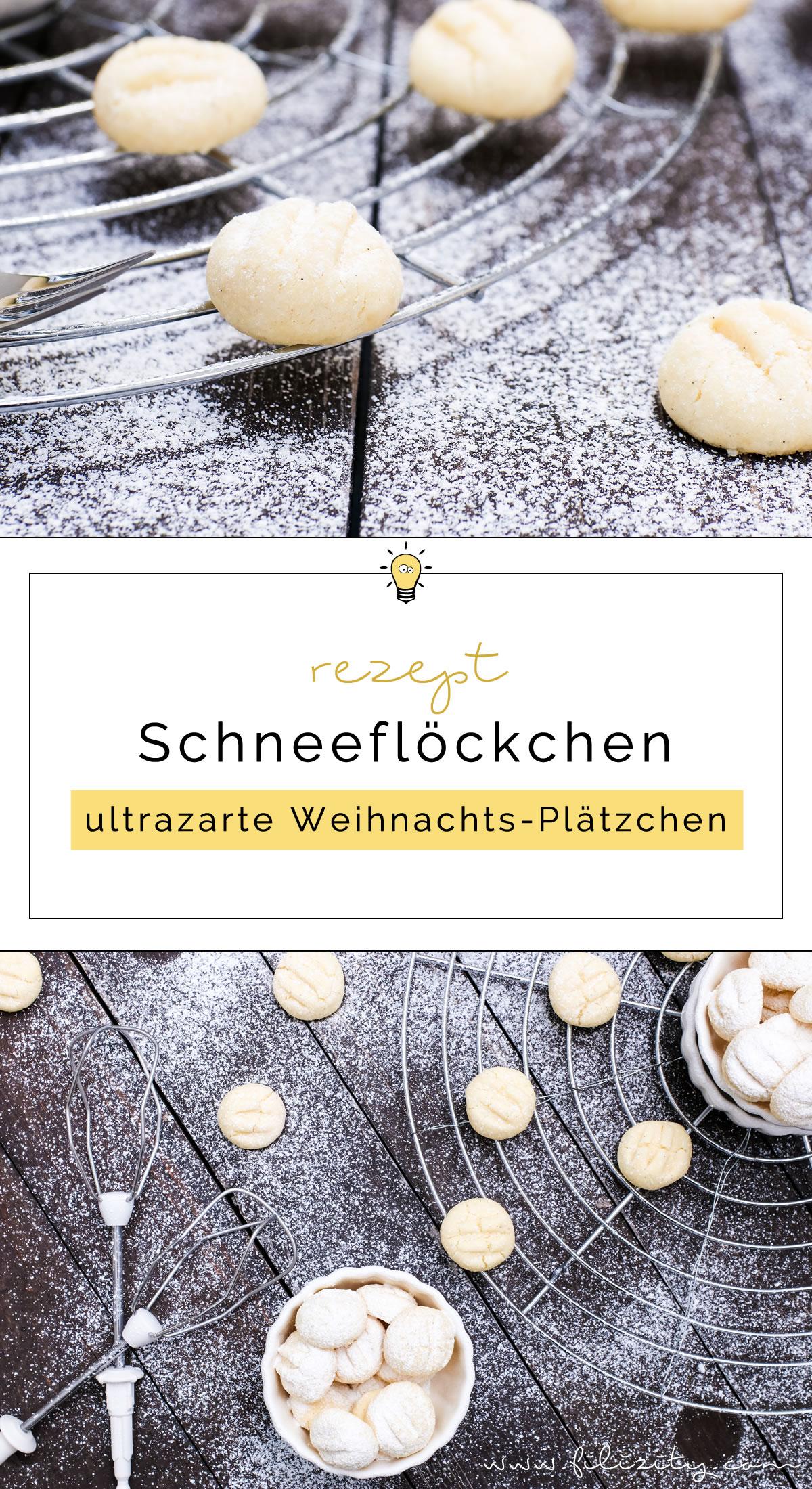 veganes Plätzchen-Rezept: Schneeflöckchen – Ultrazarte Weihnachts-Plätzchen | Filizity.com | Food-Blog aus Koblenz #plätzchen #keks #weihnachten #advent #vegan