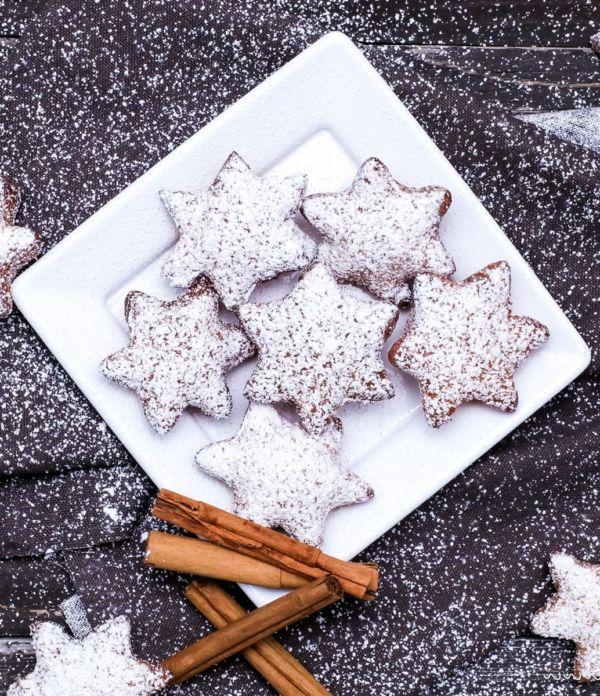 Weihnachts-Krapfen – zimtige Hefeteig-Sterne