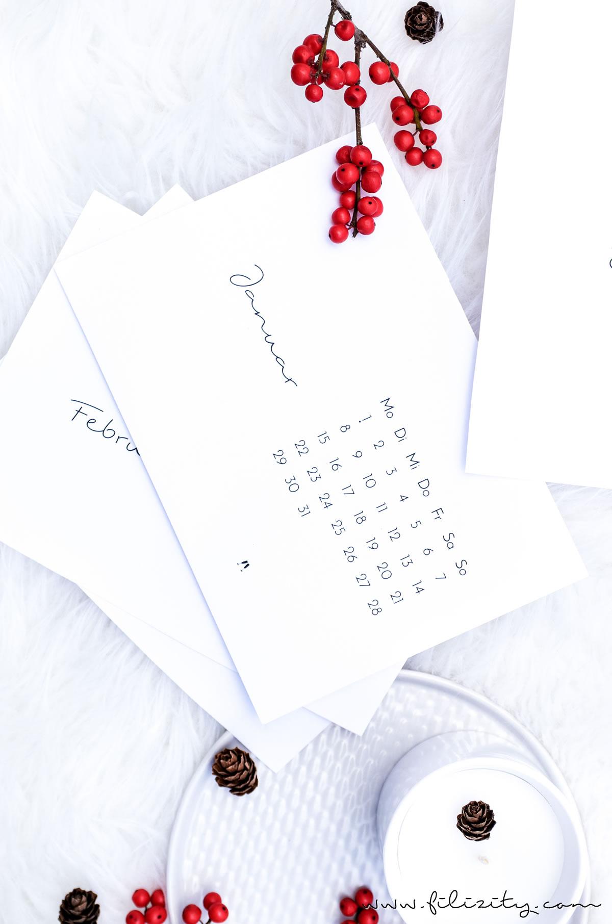 Free Printable ] Minimalistischer Tisch-Kalender 2018 | Filizity.com ...
