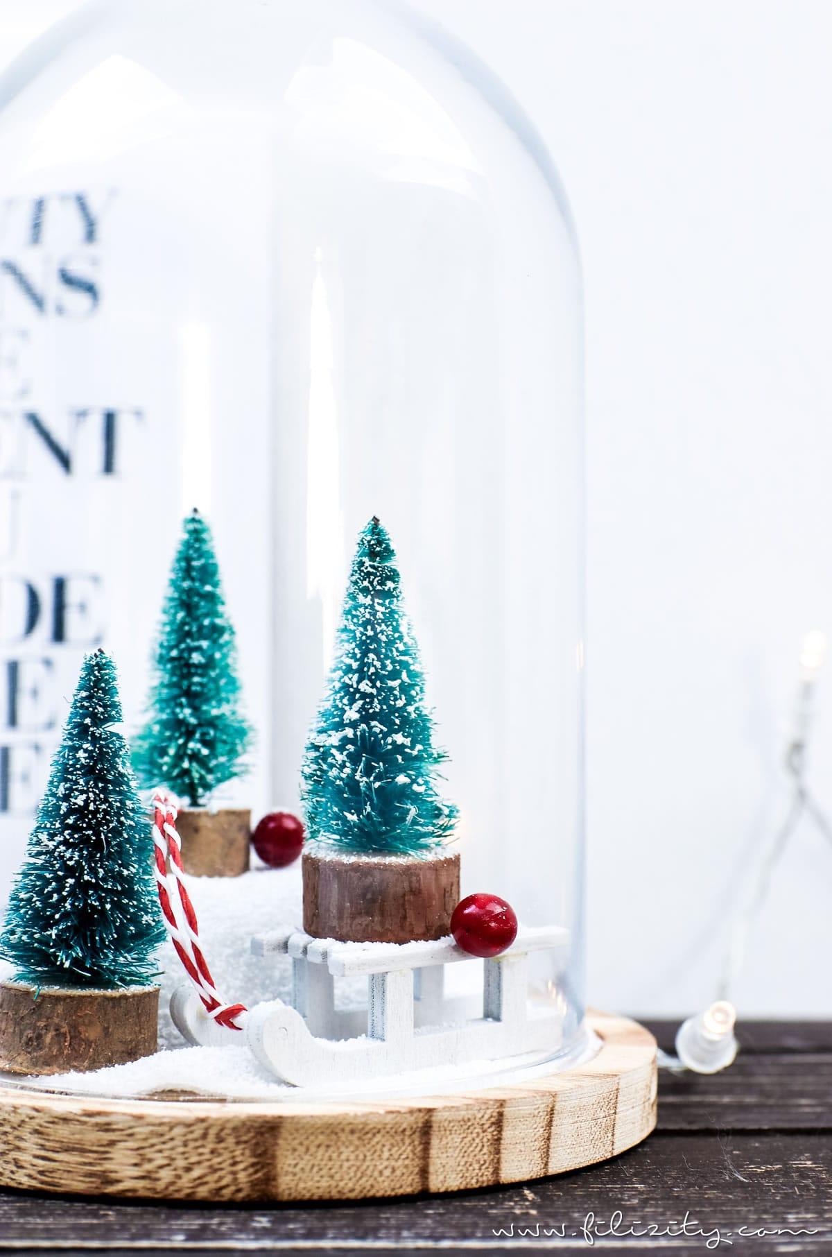 DIY Weihnachtsdeko 'Winterwonderland im Glas' | Filizity.com | DIY-Blog aus dem Rheinland #weihnachten #winter #deko #ohtannenbaum
