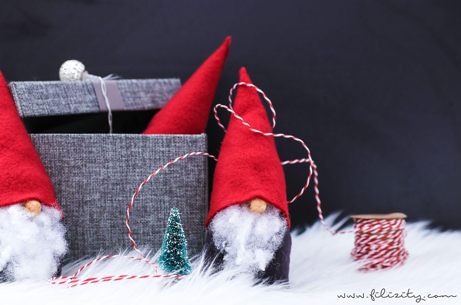 Wichtel Basteln Ohne Nähen U2013 Süße Weihnachtsdeko Und Geschenkidee