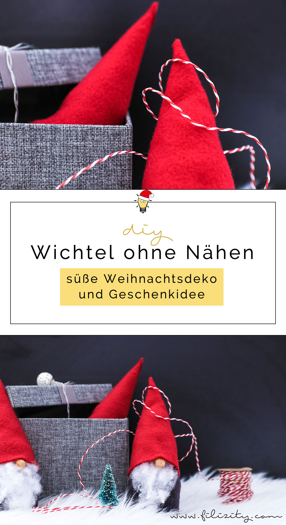 wichtel basteln ohne n hen s e weihnachtsdeko und geschenkidee diy blog aus. Black Bedroom Furniture Sets. Home Design Ideas