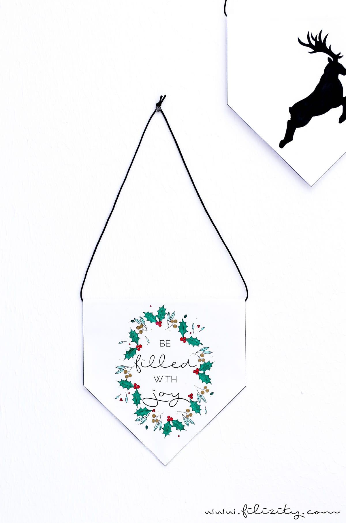 DIY Weihnachtsdeko (Wimpel & Bilder) und Geschenk-Anhänger – Printables zum Ausmalen mit PILOT Pen | Filizity.com | DIY-Blog aus dem Rheinland #pilot #pilotkreativ #pilotpen #printable #weihnachten