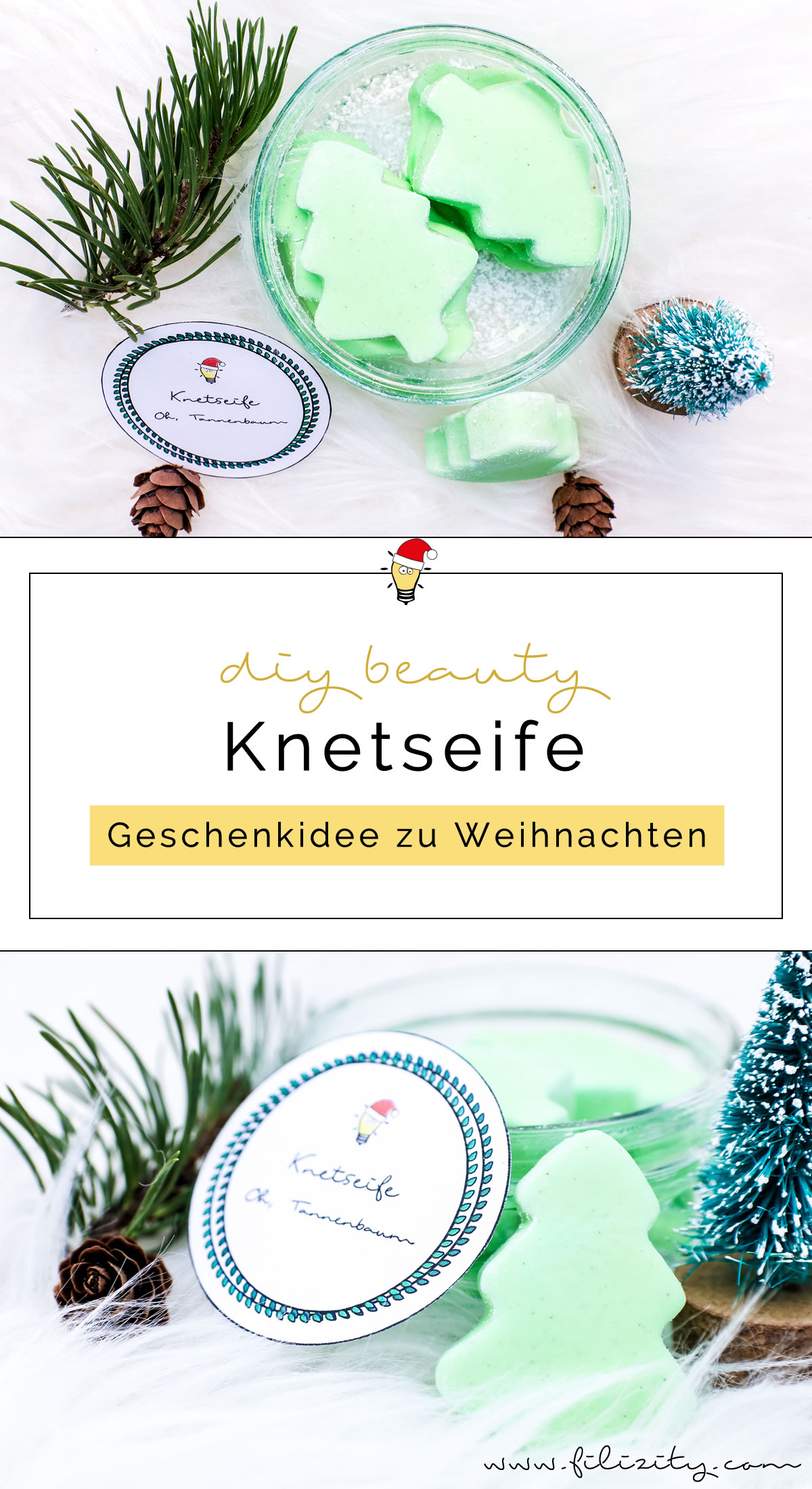 weihnachts geschenkidee diy knetseife tannenbaum selber machen diy blog aus. Black Bedroom Furniture Sets. Home Design Ideas