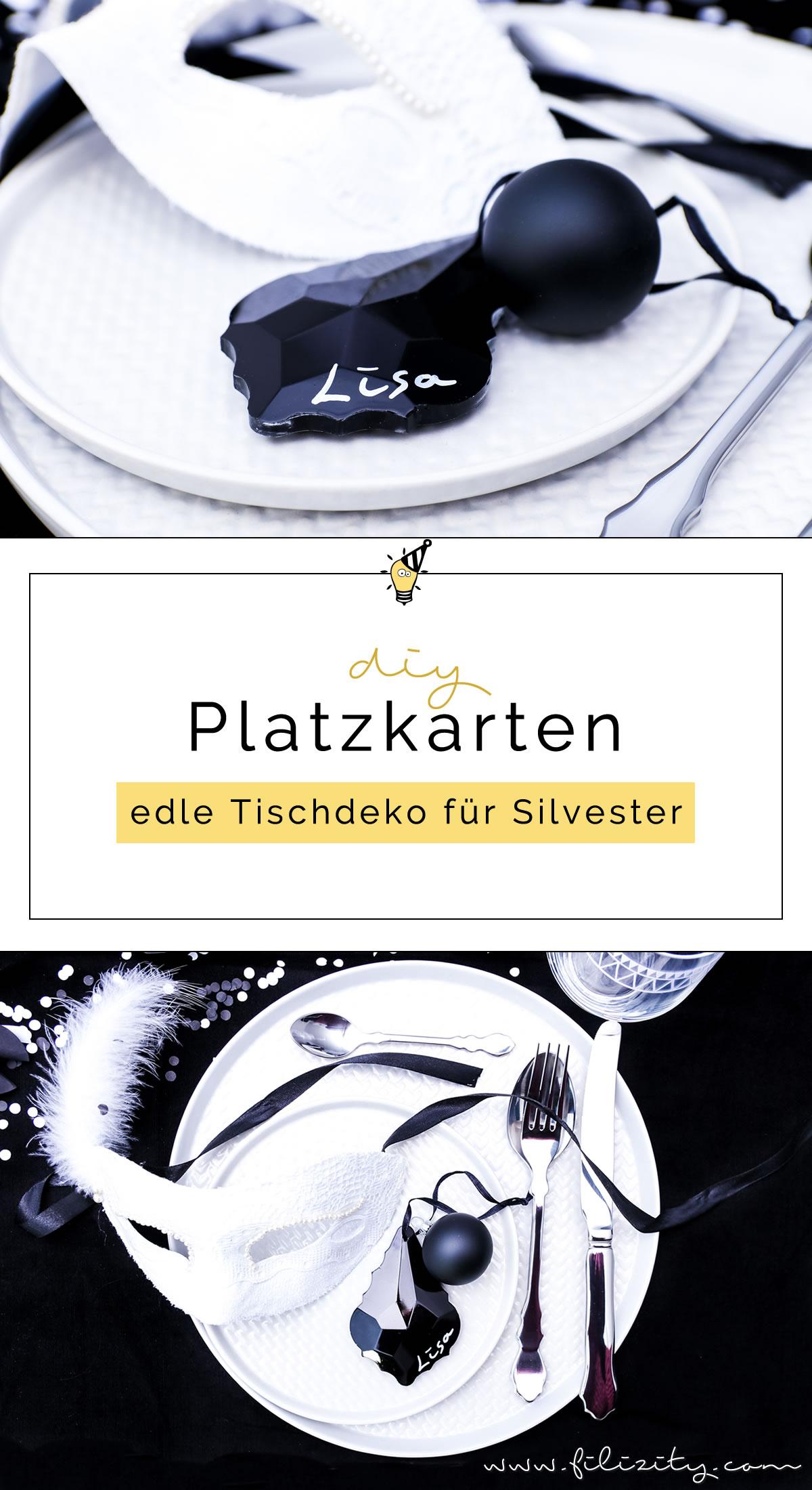 Let's Party! DIY Namelsschilder/Tischkarten/Platzkarten für die Silvester-Tischdeko selber | Filizity.com | DIY-Blog aus dem Rheinland #silvester #nye #party