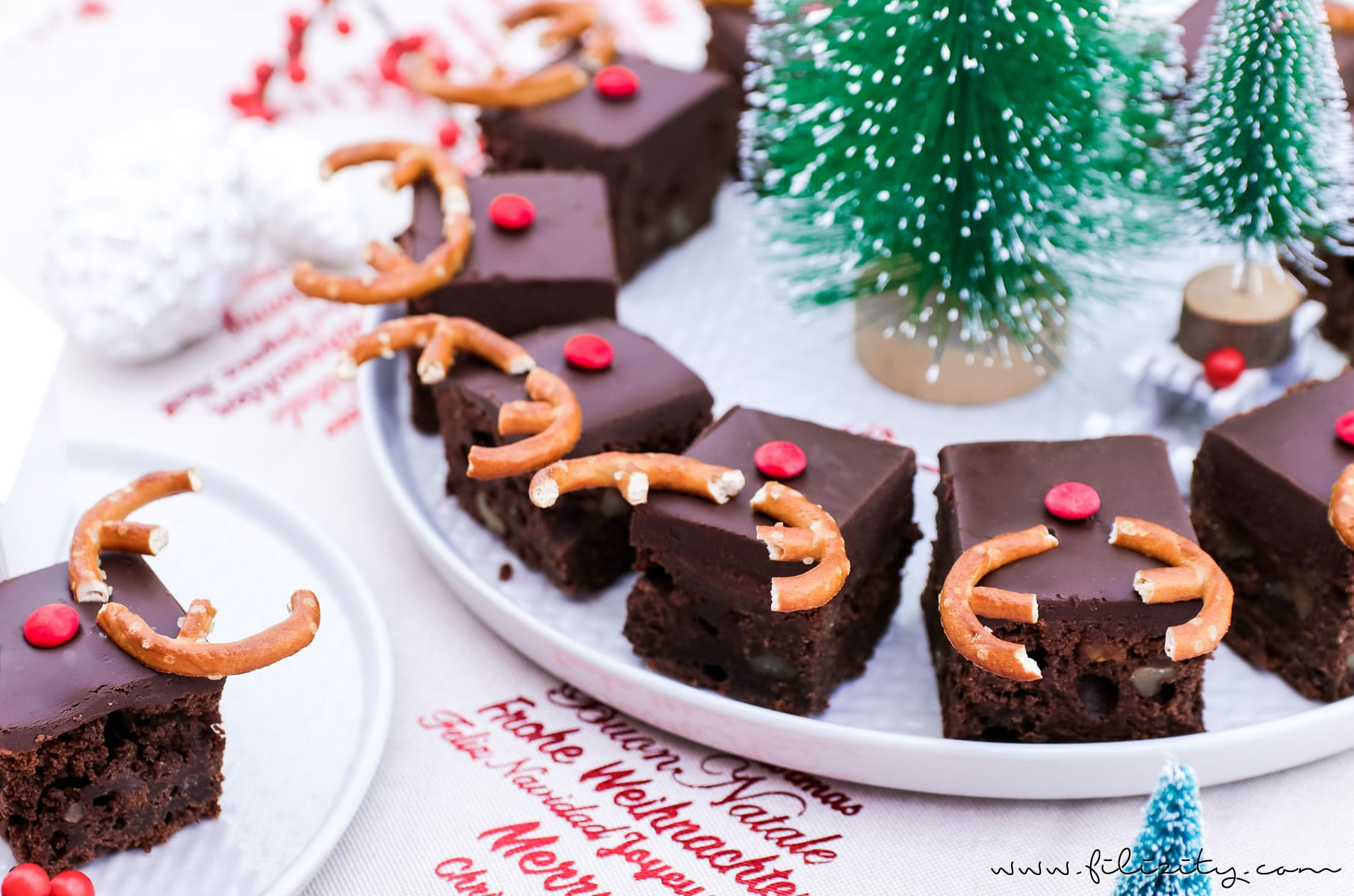 rudolph brownies lustiger weihnachts kuchen food blog aus dem rheinland. Black Bedroom Furniture Sets. Home Design Ideas
