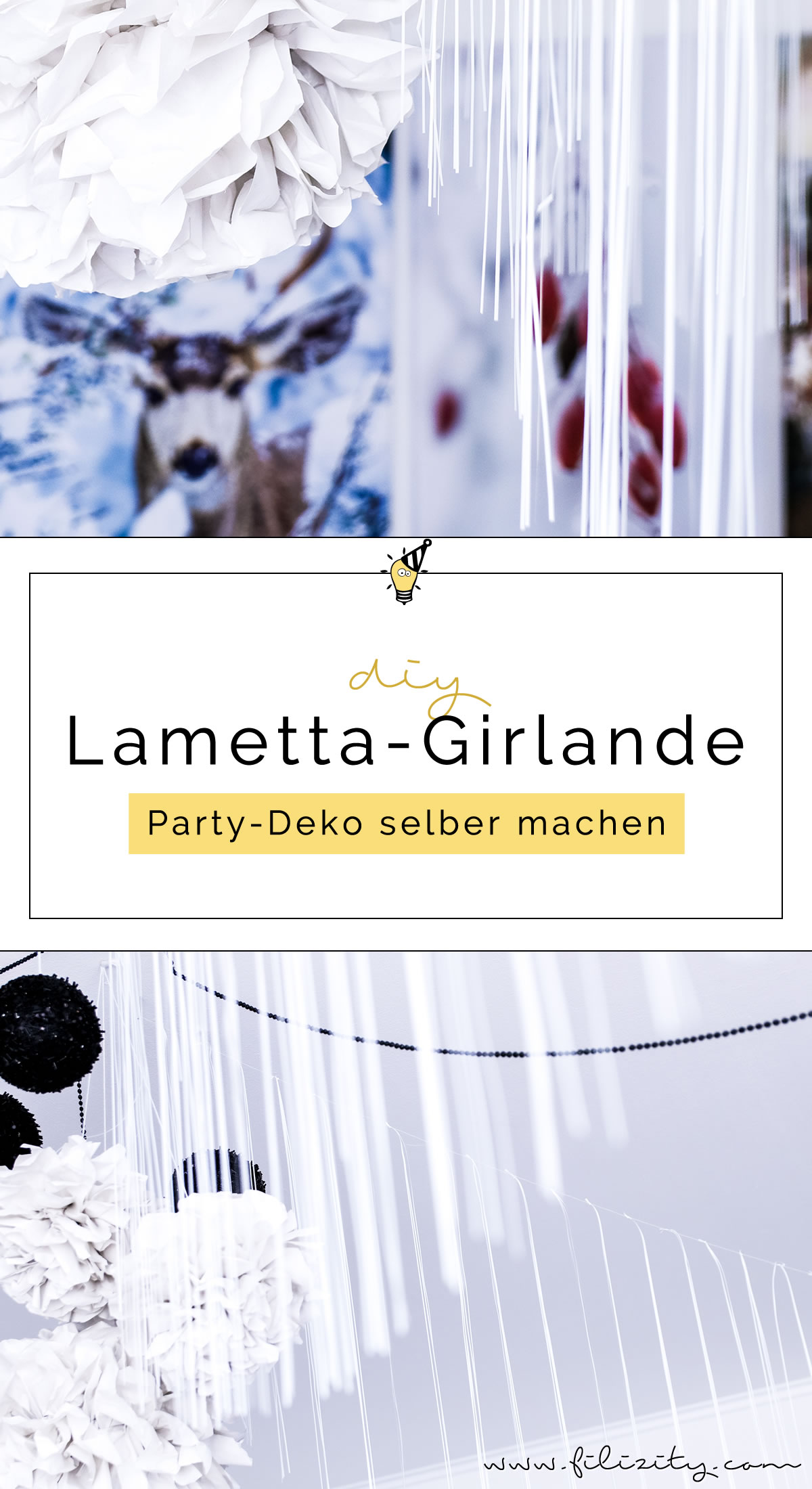 Diy party deko lametta girlande basteln - Party deko berlin ...