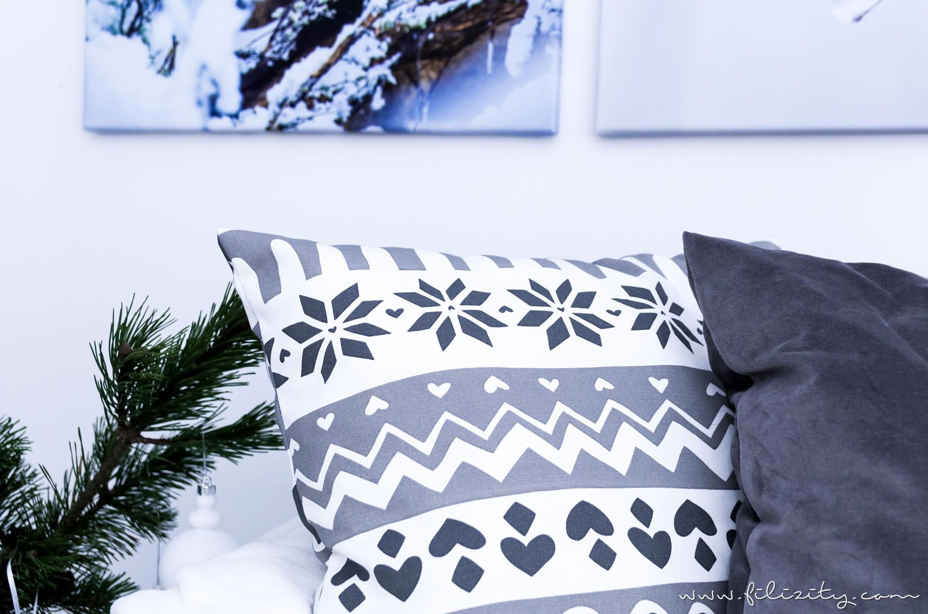 Vinter 2017 Winter Und Weihnachtsdeko Von Ikea Diy Dekokissen