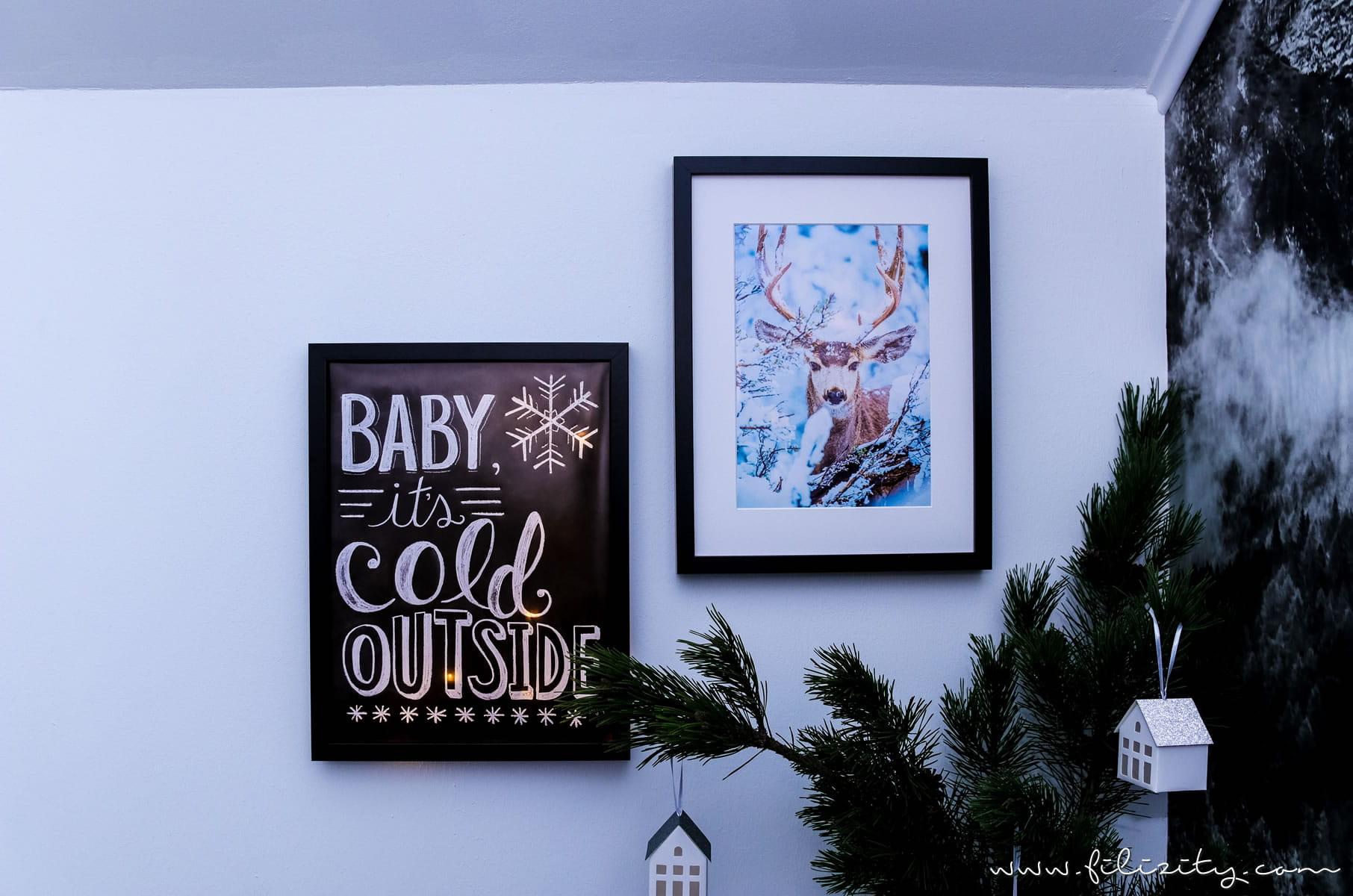 DIY Winterdeko: Hyggelig beleuchtete Poster selber machen mit Postern von Posterlounge | Filizity.com | DIY-Blog aus dem Rheinland #hygge #poster #winterdeko