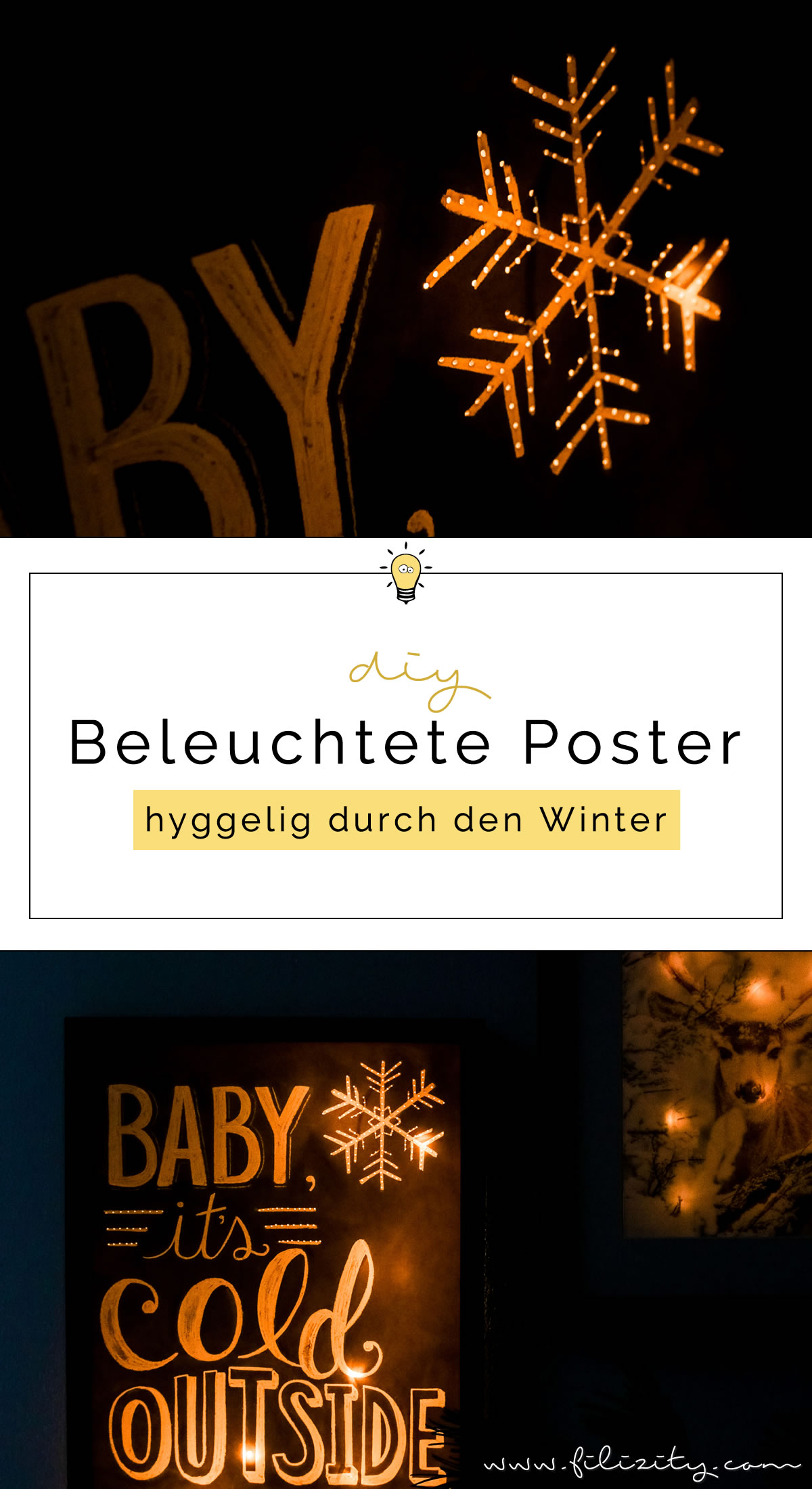hyggelige winterdeko beleuchtete poster selber machen diy blog aus dem rheinland. Black Bedroom Furniture Sets. Home Design Ideas