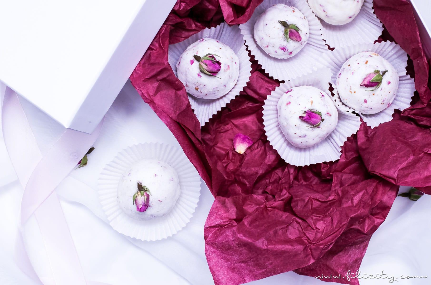 Diy Badebomben Mit Rosen Eine Tolle Geschenkidee Für Valentinstag