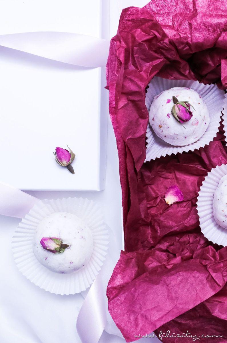 diy badebomben mit rosen eine tolle geschenkidee f r. Black Bedroom Furniture Sets. Home Design Ideas