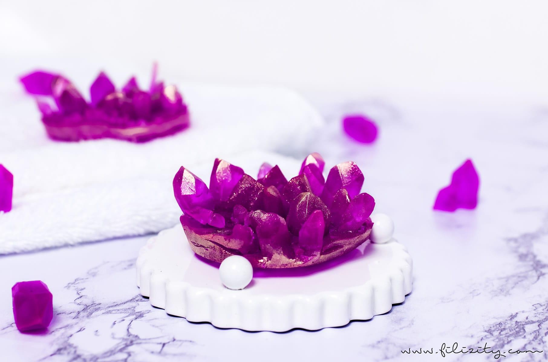 DIY Geschenkidee: Kristall-Seife selber machen