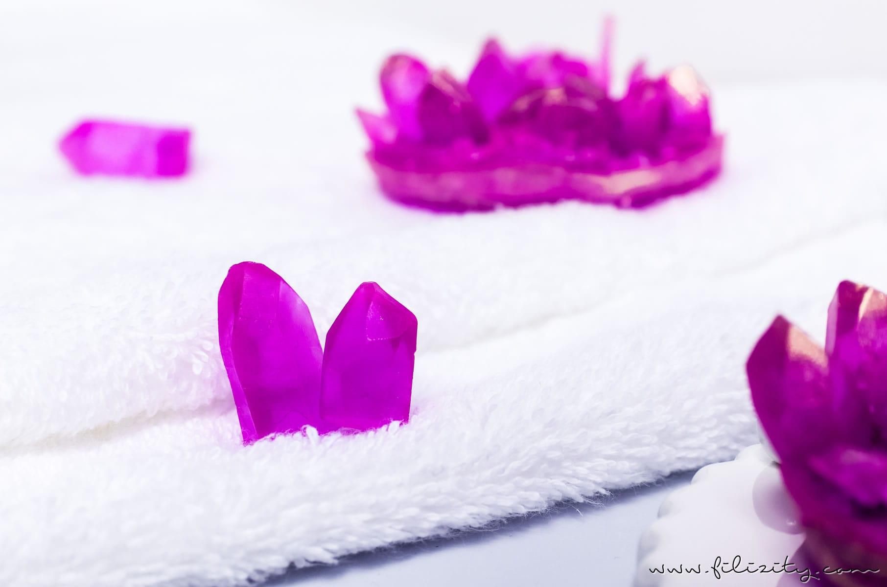 DIY Geschenkidee für Valentinstag oder Muttertag: Kristall-Seife selber machen   Filizity.com   Beauty & DIYBlog aus dem Rheinland #seife #valentinstag #muttertag #geschenkidee