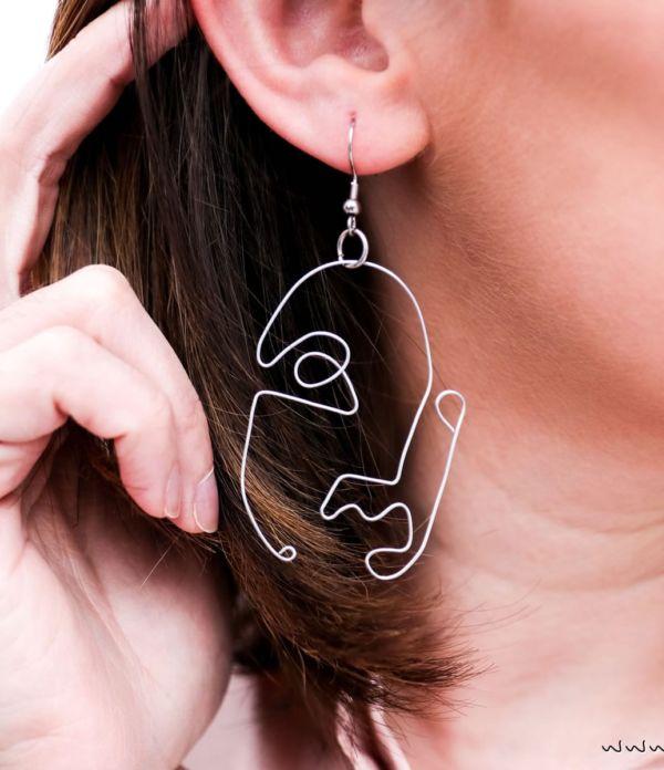 Kunst für die Ohren: DIY Ohrringe mit Gesichtern selber machen