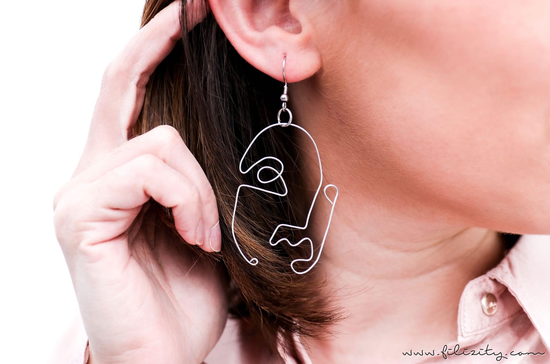 Kunst Trend-Schmuck für 2017/2018 selber machen: DIY Ohrringe mit Gesichtern. Auch toll als Geschenkidee | Filizity.com | DIY-Blog aus dem Rheinland #picasso #geschenkideen