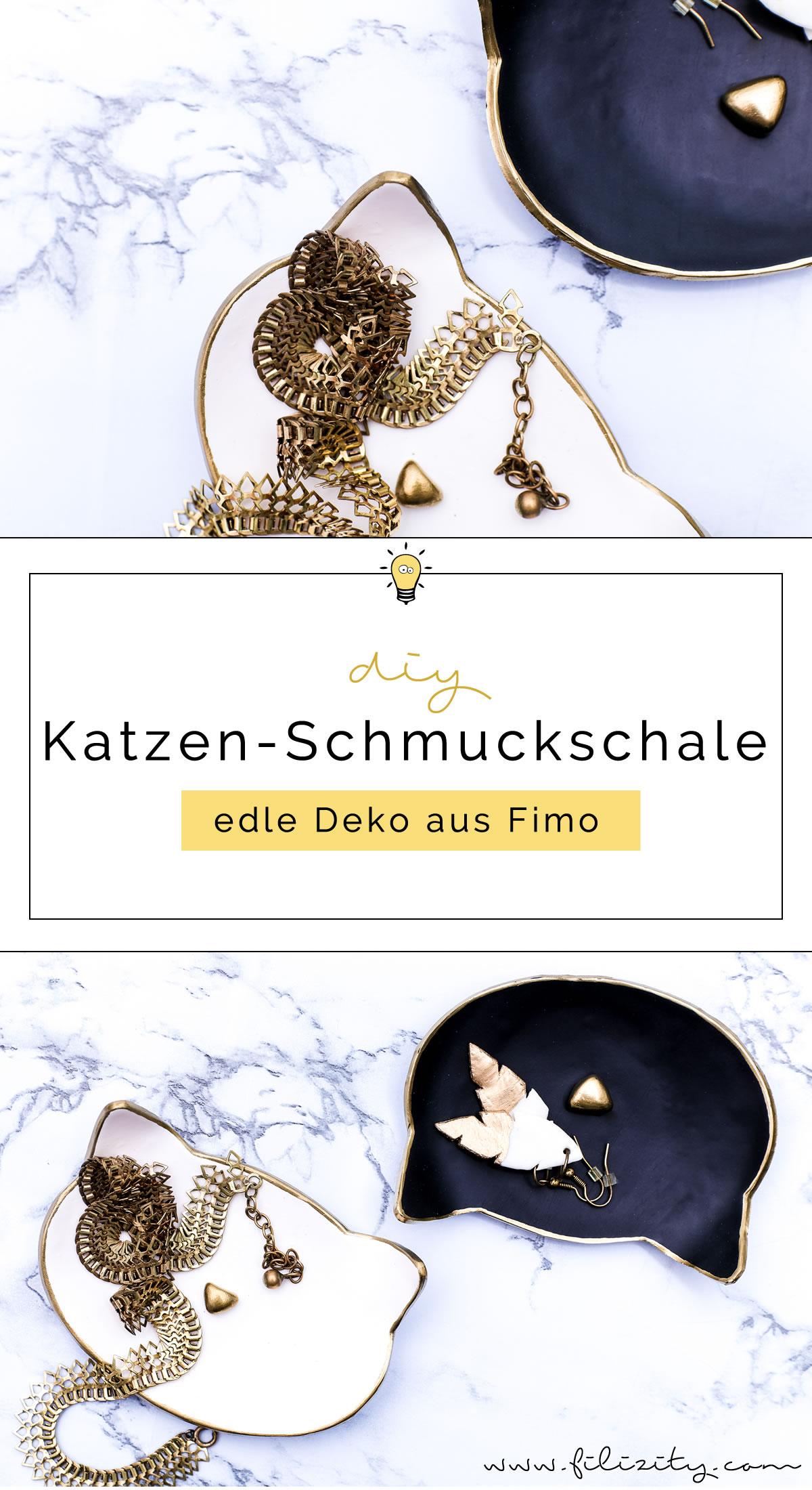 Katzen-Schmuckschalen aus Fimo selber machen | DIY Deko & Geschenkidee | Filizity.com | DIY-Blog aus dem Rheinland #fimo