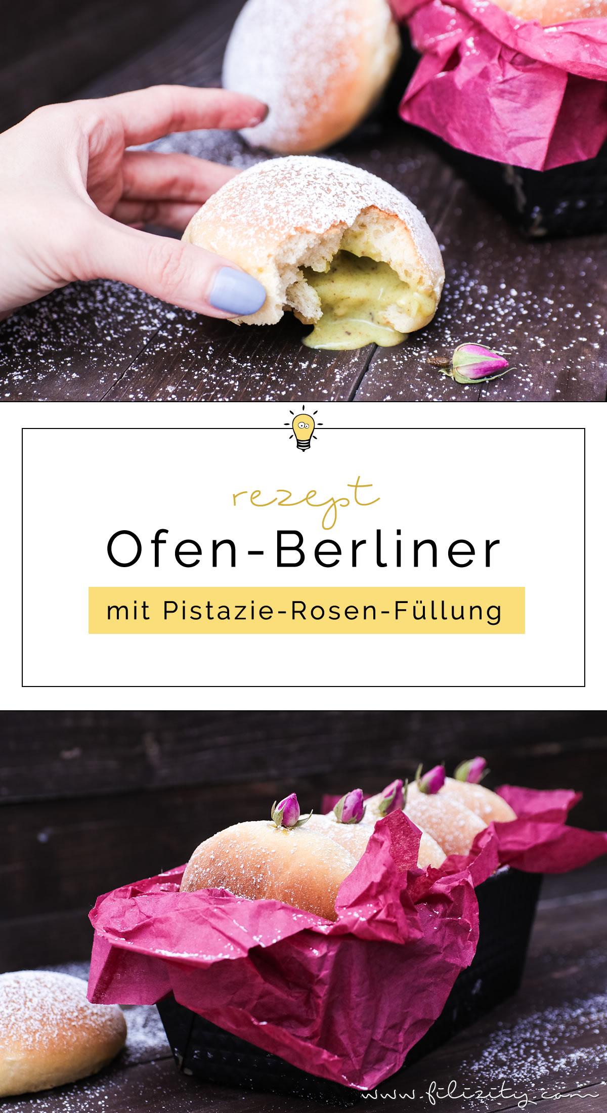Ofenberliner mit Pistazienfüllung - Leichtes Krapfen-Rezept für die Faschingzeit | Filizity.com | Food-Blog aus dem Rheinland #karneval #fasching #berliner #krapfen #helau #alaaf