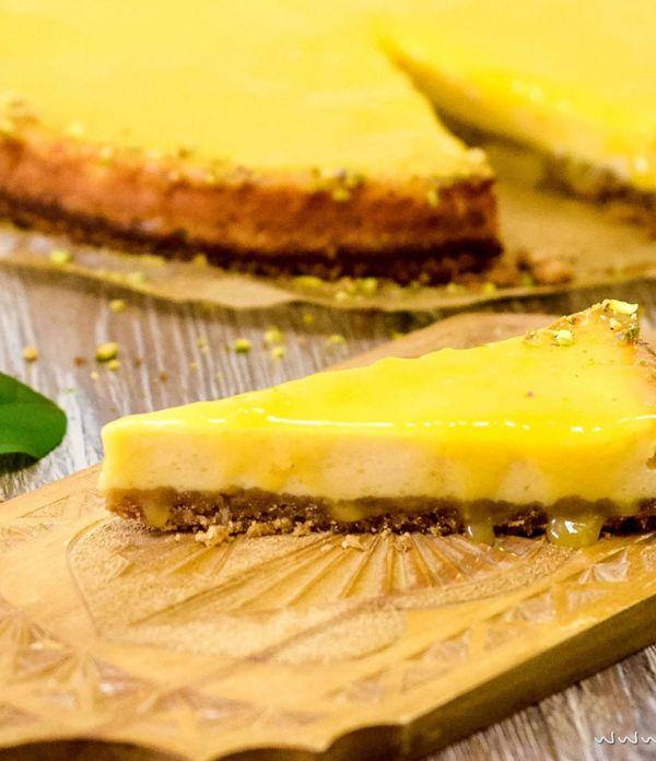 Lemon Curd Cheesecake – Käsekuchen mit Zitronencreme