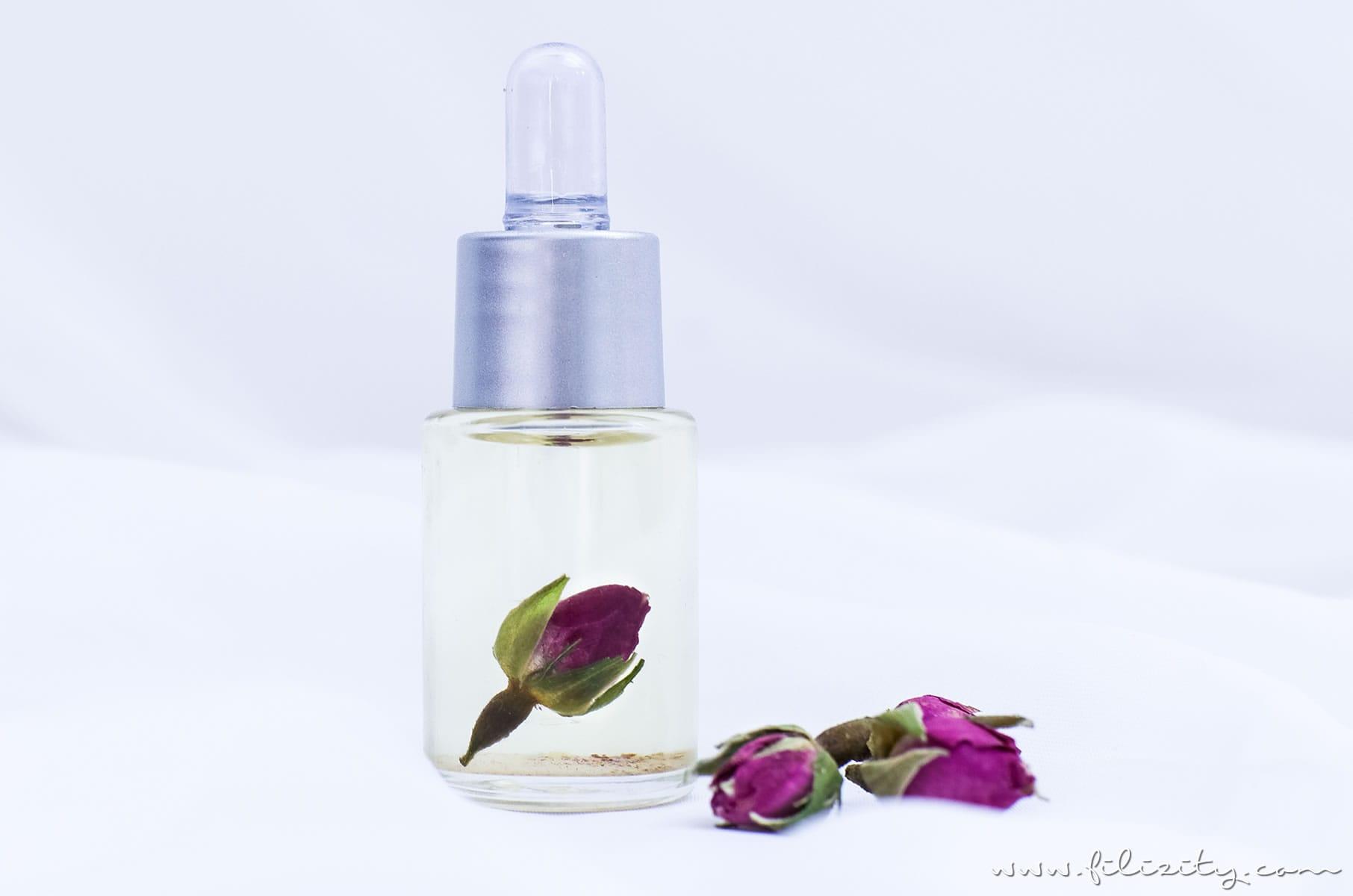 Rosenöl selber machen  – DIY Hautpflege & Geschenkidee für Valentinstag