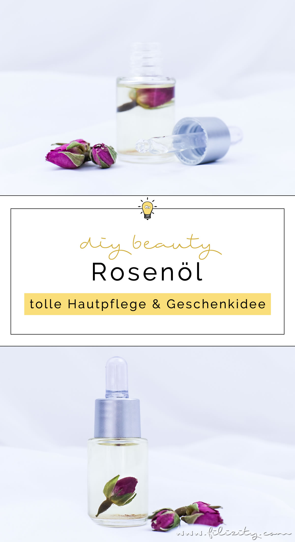 Rosenöl selber machen - DIY Hautpflege & Geschenkidee für Valentinstag | Naturkosmetik selber machen | Filizity.com | Beauty- & DIY-Blog aus dem Rheinland #valentinstag #geschenkidee #muttertag