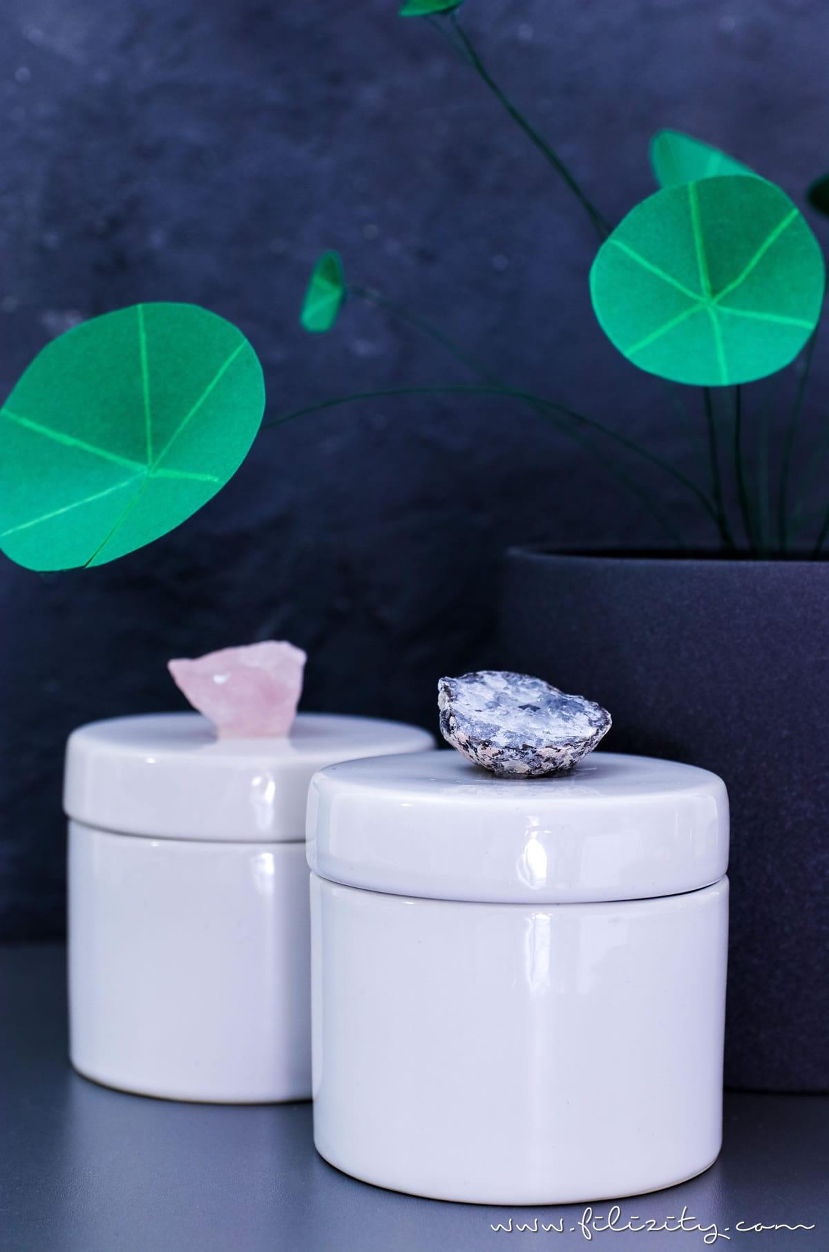 Luxus Deko Selber Machen: DIY Porzellan Aufbewahrungsdosen Mit  Kristalldeckel Schnell U0026 Günstig Selbst Gemacht