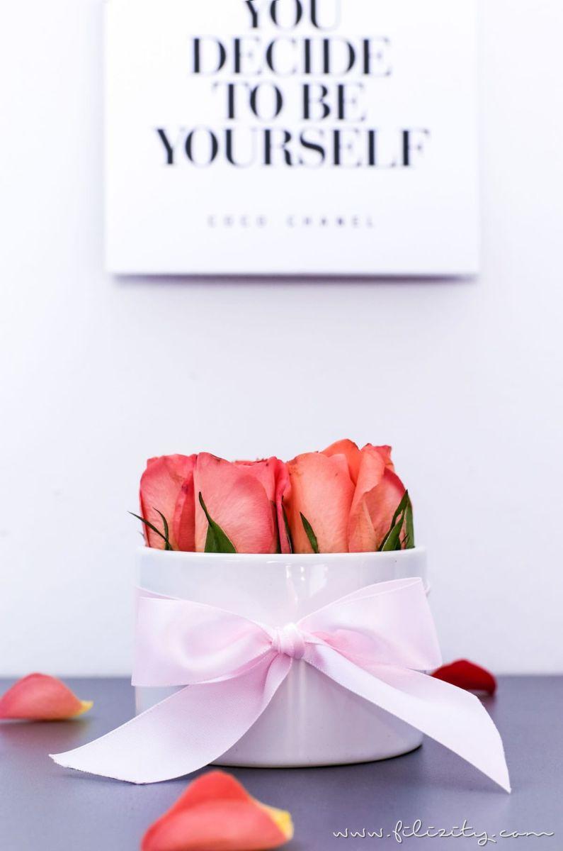 diy flowerbox selber machen sch ne deko und die perfekte diy geschenkidee f r valentinstag. Black Bedroom Furniture Sets. Home Design Ideas