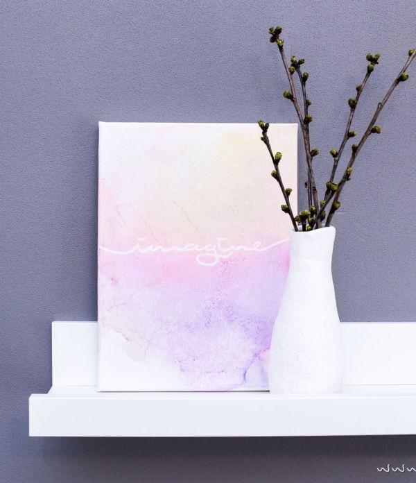 Abstrakte Aquarell-Bilder malen  – Schnell & einfach ohne Aquarellfarben