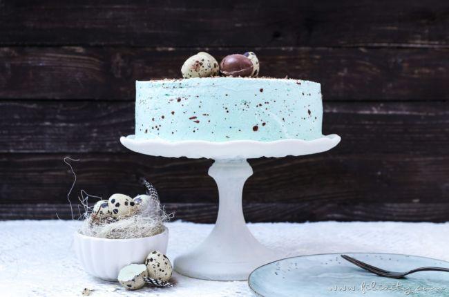 Gesprenkelte Vanille-Nougat-Torte – perfekt für Ostern