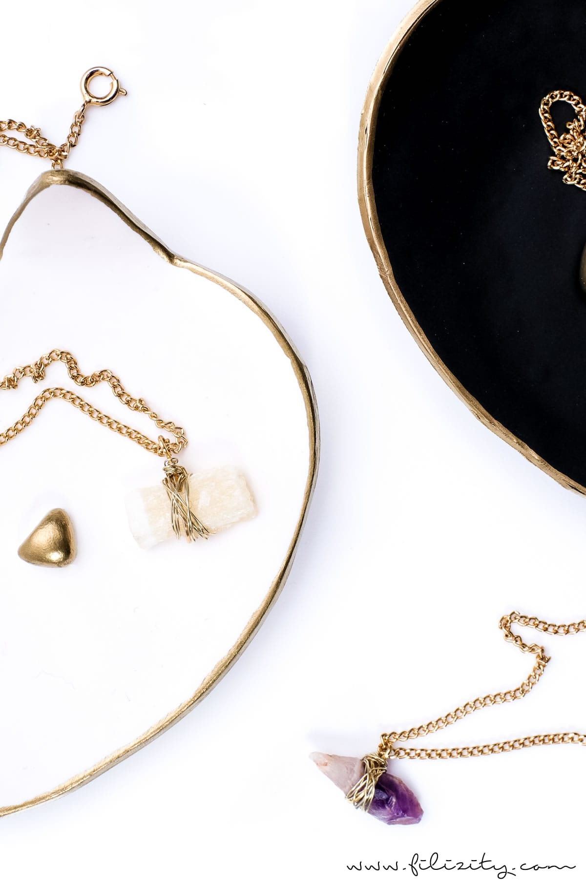 Schmuck selber machen: DIY Edelsteinketten | DIY Fashion & Geschenkidee zum Muttertag, Geburtstag, Valentinstag etc. | Filizity.com | DIY-Blog aus dem Rheinland #schmuck #geschenkidee